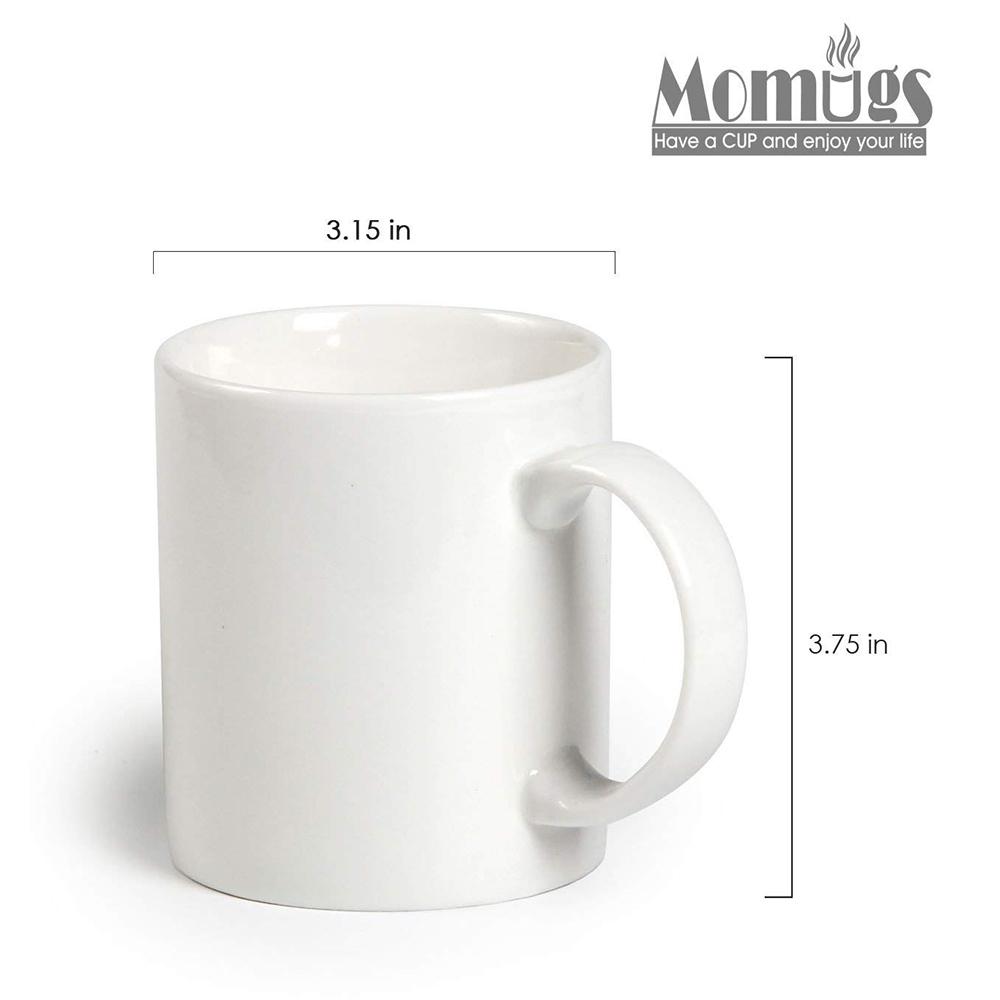 Classic Coffee Mugs, 12 oz Perfect Ceramic Tea Mug, White, Set of 4 4