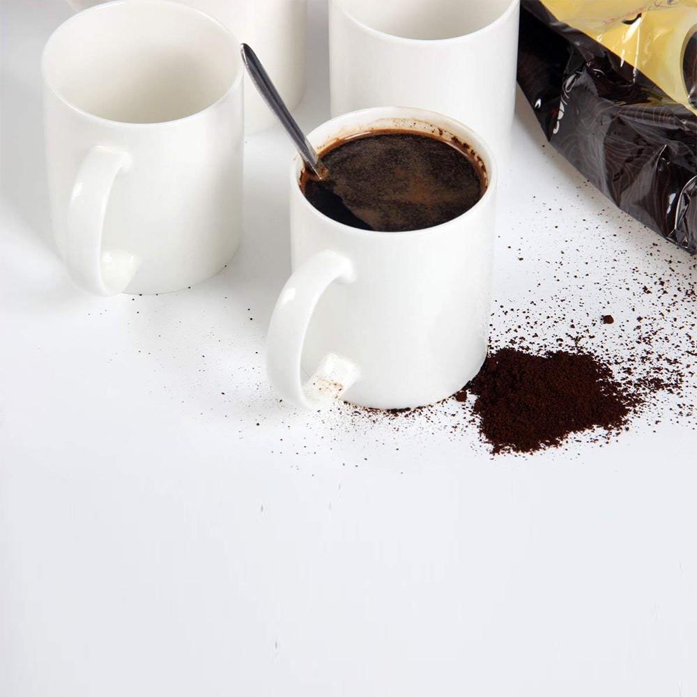 Classic Coffee Mugs, 12 oz Perfect Ceramic Tea Mug, White, Set of 4 6