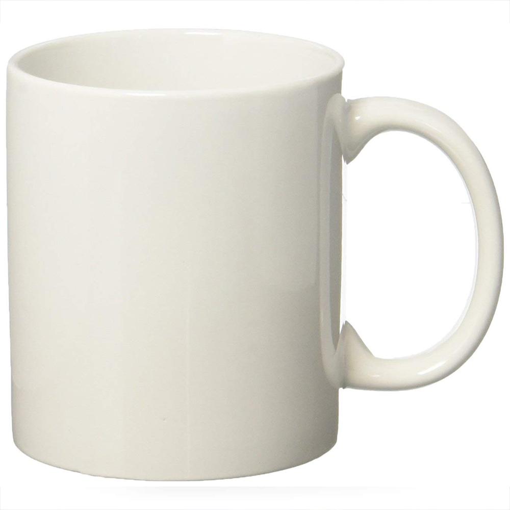 Classic Coffee Mugs, 12 oz Perfect Ceramic Tea Mug, White, Set of 4 9
