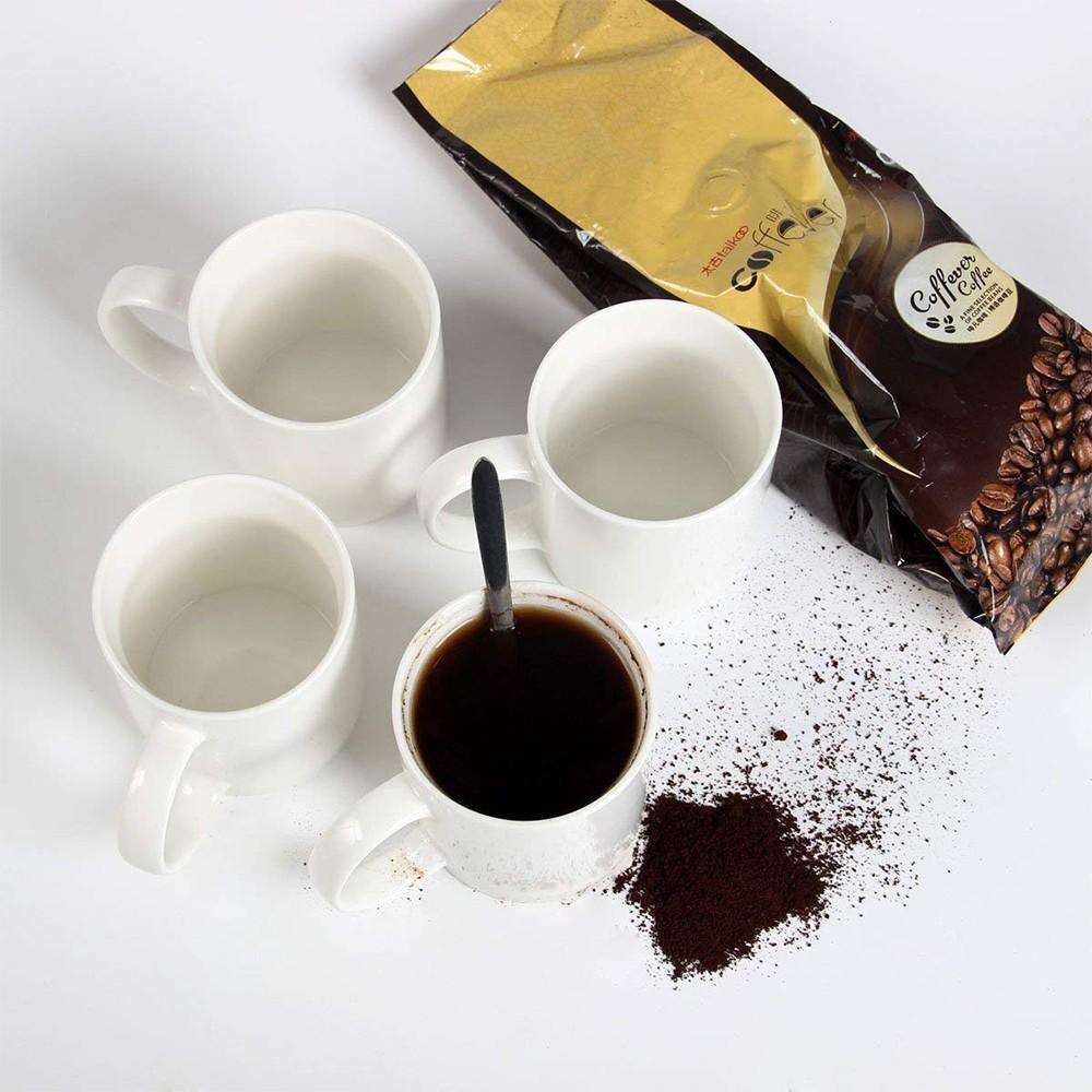 Classic Coffee Mugs, 12 oz Perfect Ceramic Tea Mug, White, Set of 4 8