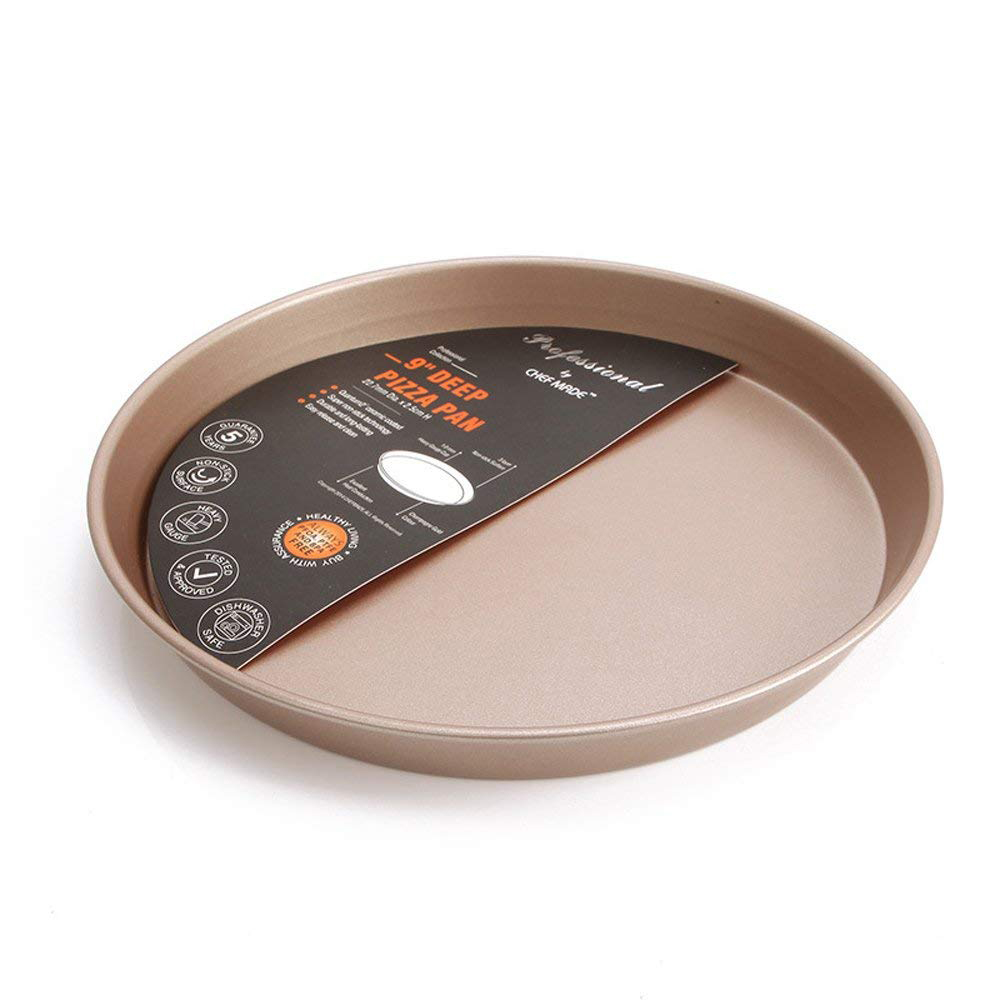 Non-Stick Pizza Pan Round, Heave Duty Professional Bakeware Cake Baking Cookies Tray, 10 Inch 4
