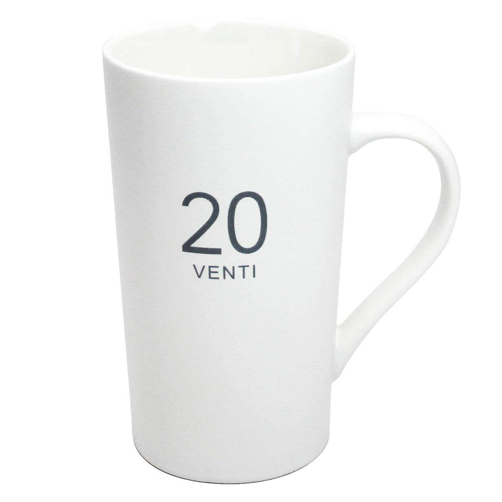Ceramic Milk Mug 20-Ounce, Number Pattern Tall Ceramic Mug for Coffee, Soups, Hot Chocolate 4