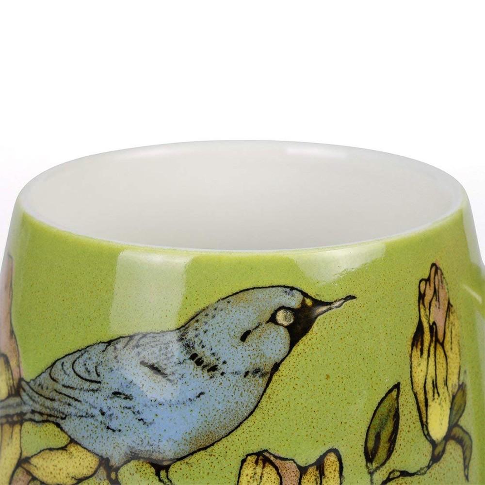 Porcelain Coffee Mug with Flower and Tree Bird Printing,12 Ounce Ceramic Coffee Mug for Coffee/Tea/Cocoa 7