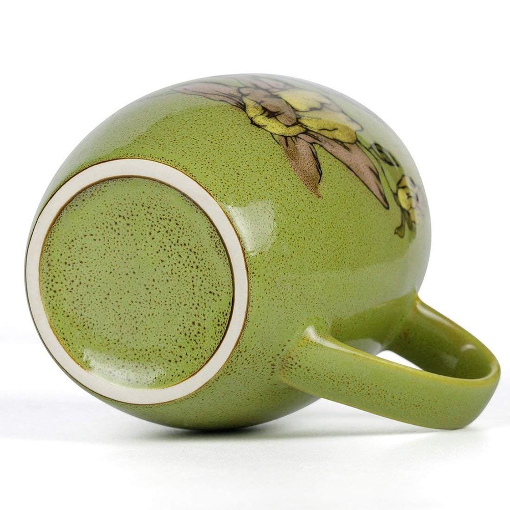 Porcelain Coffee Mug with Flower and Tree Bird Printing,12 Ounce Ceramic Coffee Mug for Coffee/Tea/Cocoa 8