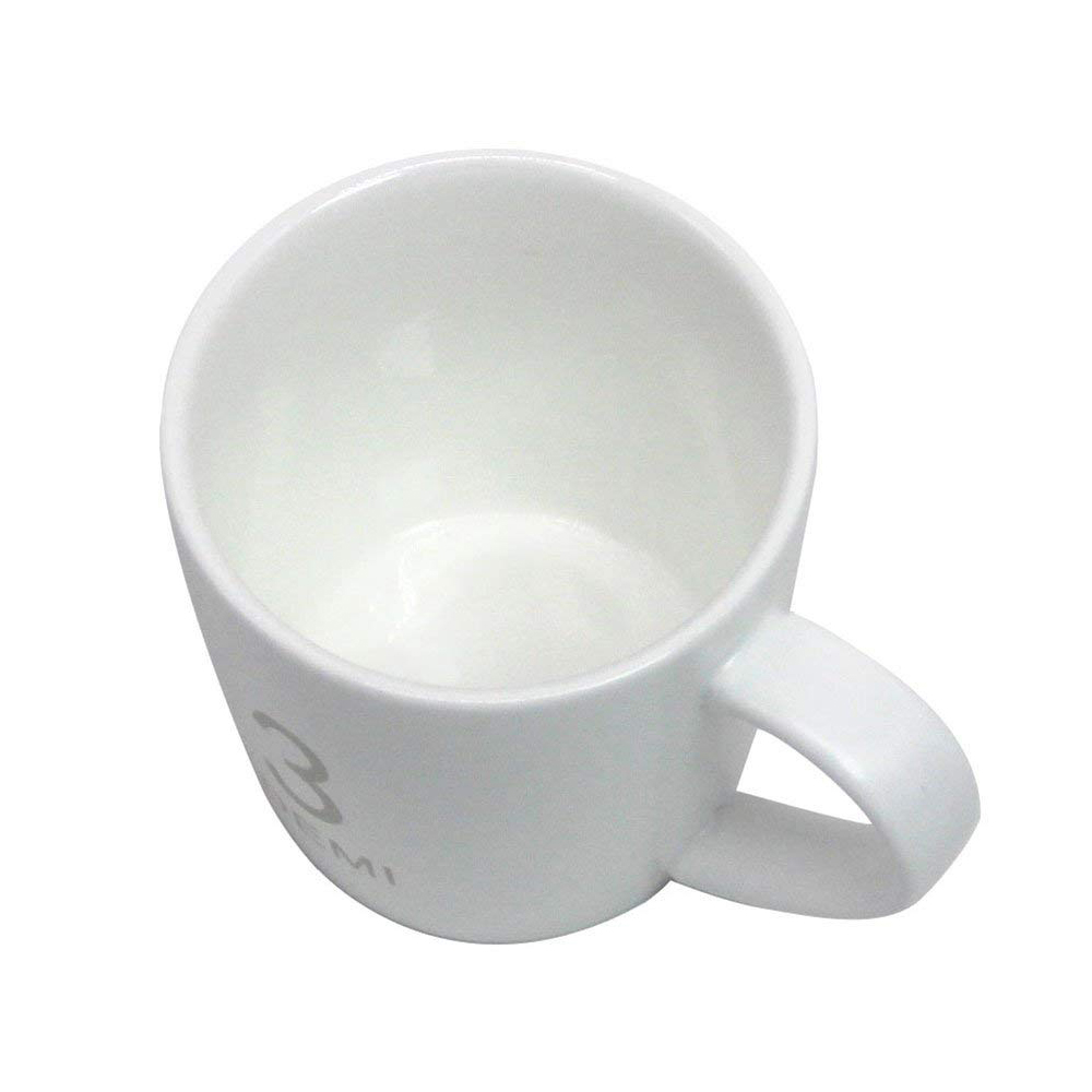 Small Ceramic Coffee Milk Mug 3 oz, White Porcelain Mugs for Coffee, Tea, Cocoa and Cereal 3
