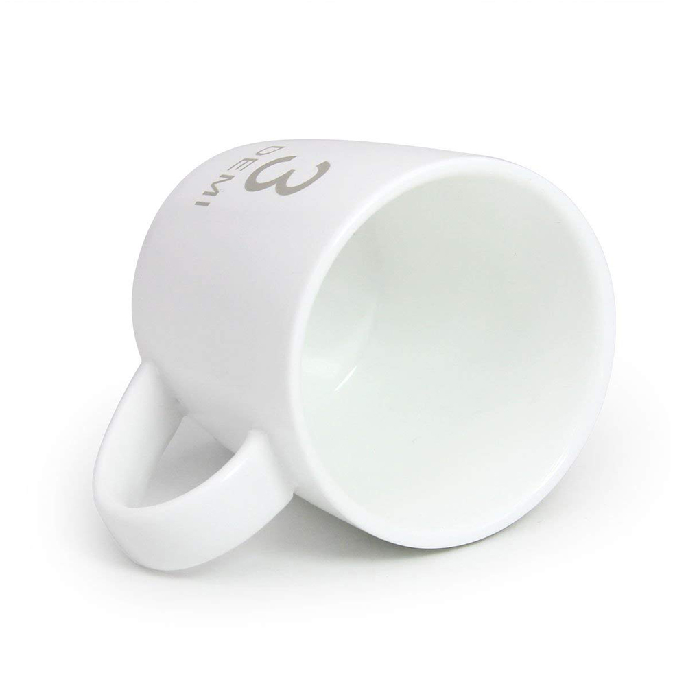 Small Ceramic Coffee Milk Mug 3 oz, White Porcelain Mugs for Coffee, Tea, Cocoa and Cereal 5