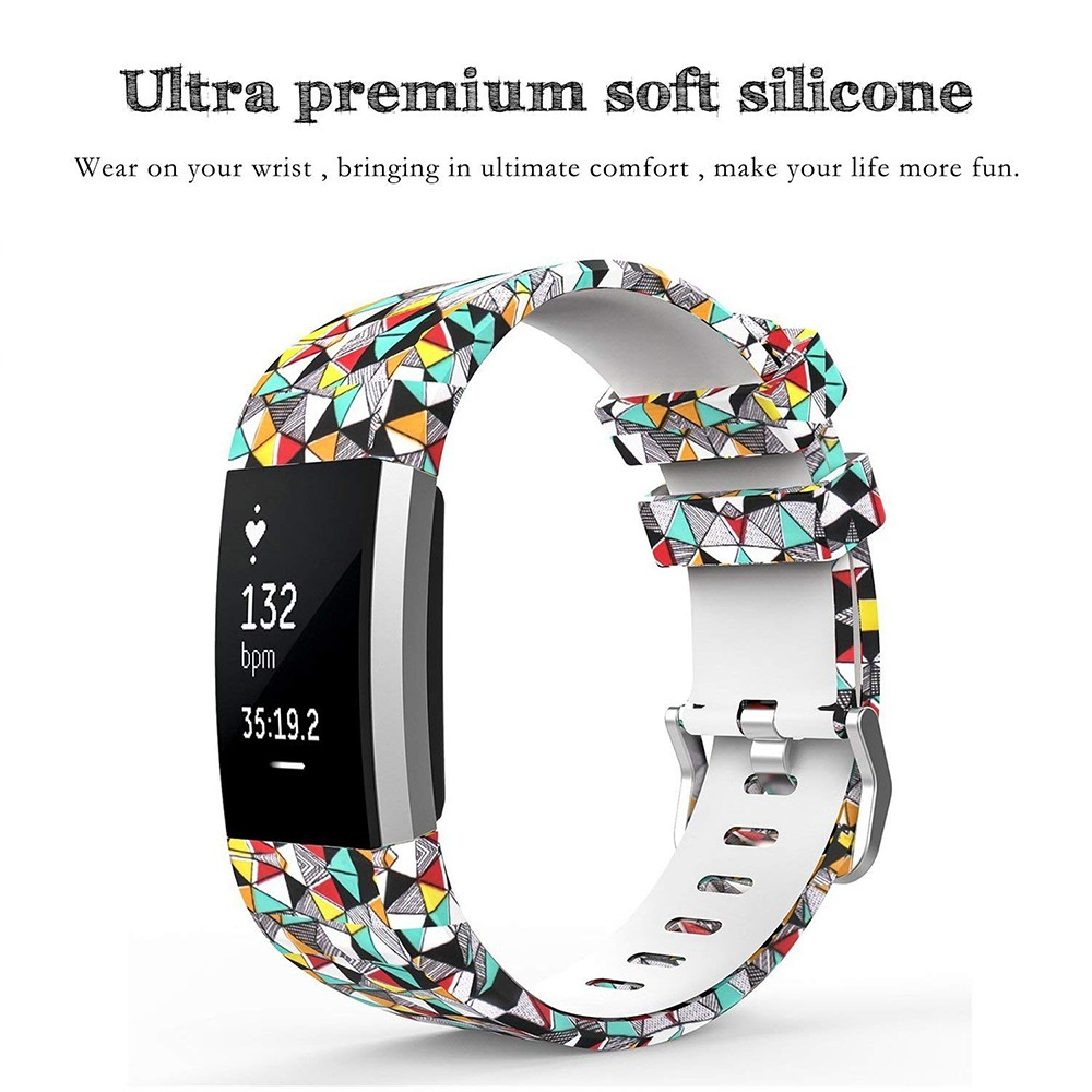 Fitbit Charge 2 Silicone Replacement Band, Adjustable Printed Design Bands for 2016 Fitbit Charge 2 Heart Rate Fitness Wristband 3
