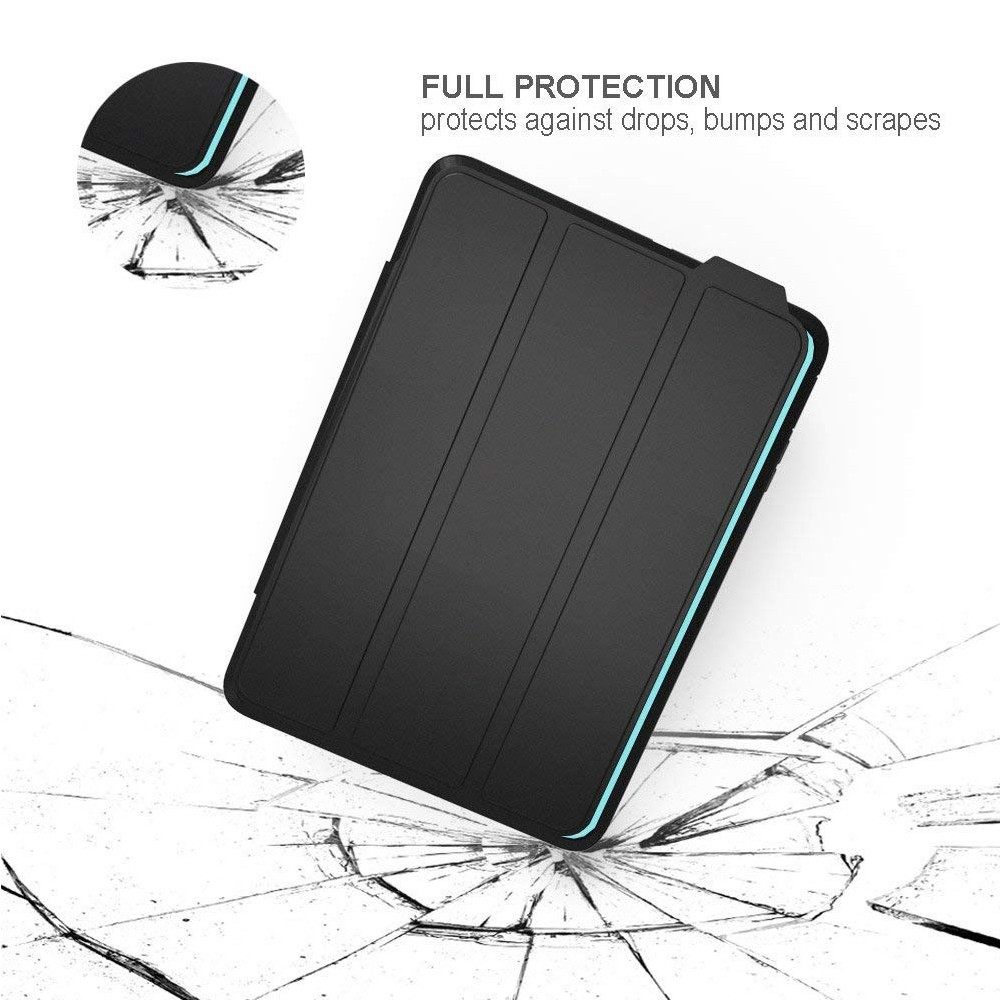 iPad mini 4 Case with Multiple Viewing Angles and Auto Sleep/Wake Function, Shockproof Protective Stand Folio Case Cover for iPad Mini 4 7