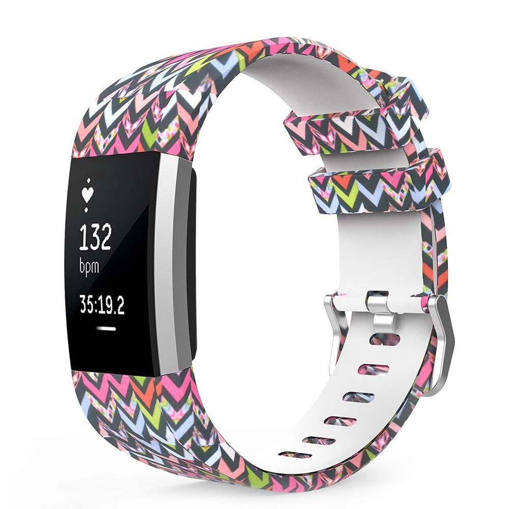 Fitbit Charge 2 Silicone Replacement Band, Adjustable Printed Design Bands for 2016 Fitbit Charge 2 Heart Rate Fitness Wristband 9