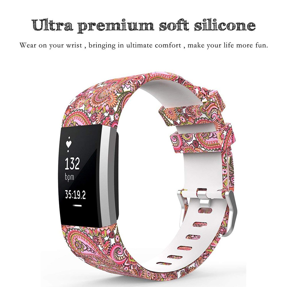 Fitbit Charge 2 Silicone Replacement Band, Adjustable Printed Design Bands for 2016 Fitbit Charge 2 Heart Rate Fitness Wristband 11