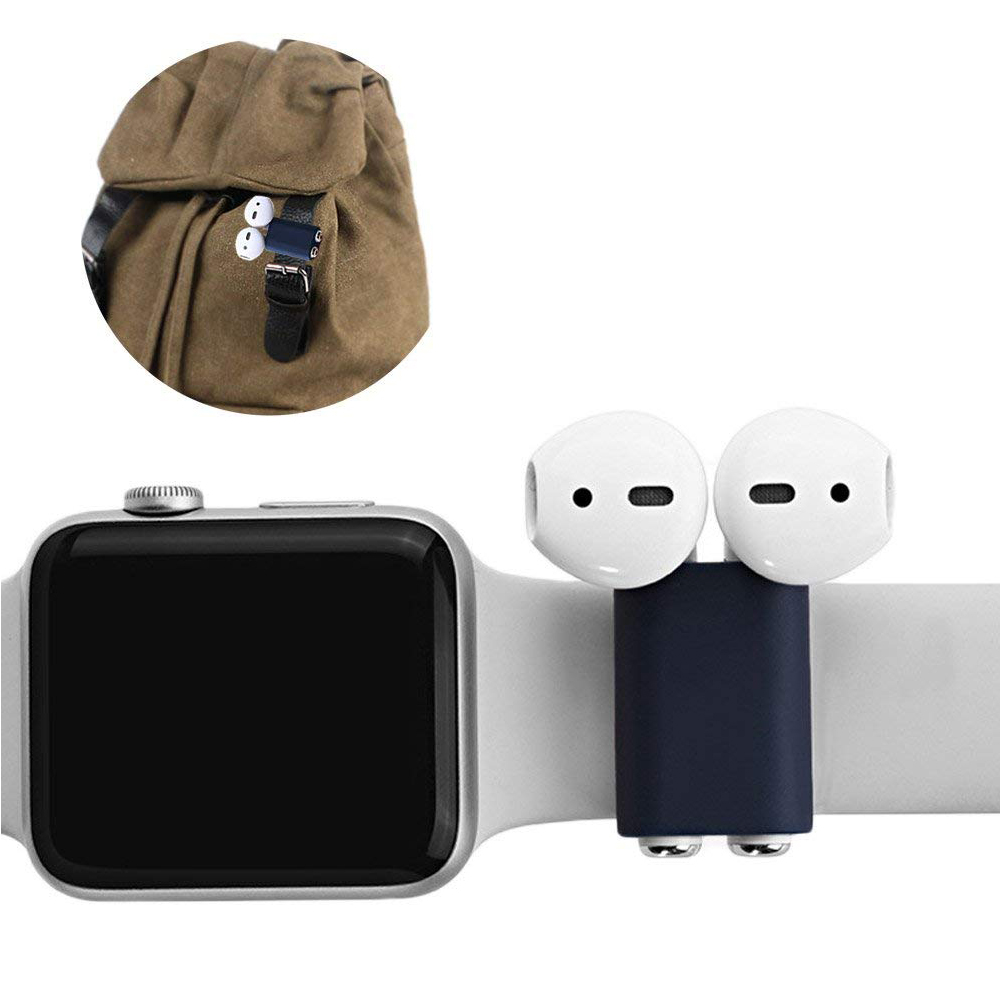 Anti-lost AirPod Silicone Holder Case, Portable Shock Resistant Band Strap for Apple AirPods 10