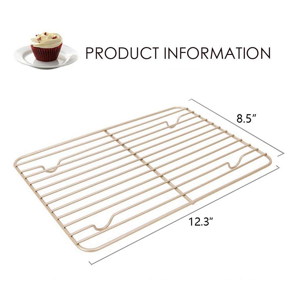 Oven-Safe Baking Rack & Cooling Rack, Rust-Resistant Roasting Rack Compatible with Various Baking Sheets Oven Pans, 8 x 12 inches 6