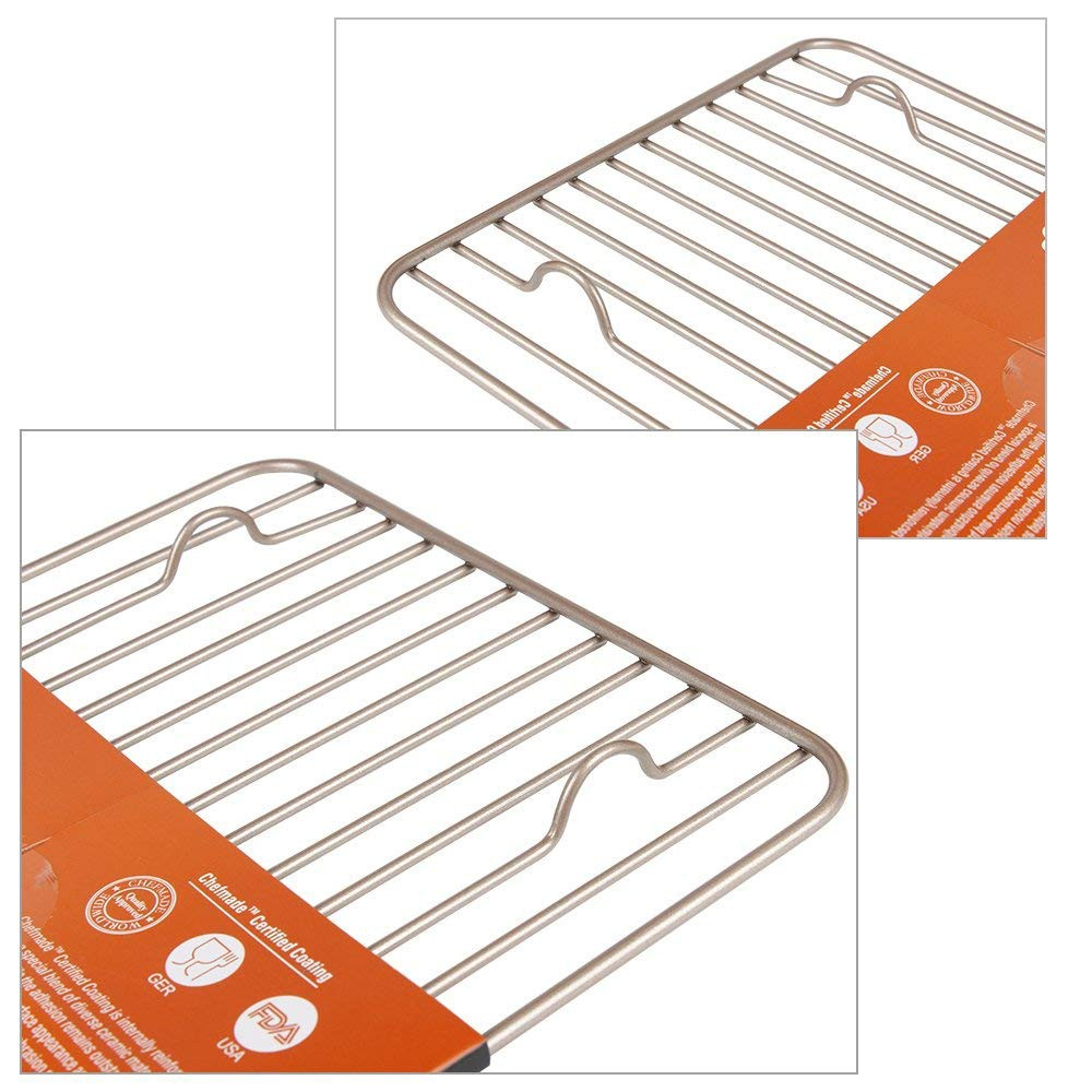 Oven-Safe Baking Rack & Cooling Rack, Rust-Resistant Roasting Rack Compatible with Various Baking Sheets Oven Pans, 8 x 12 inches 9
