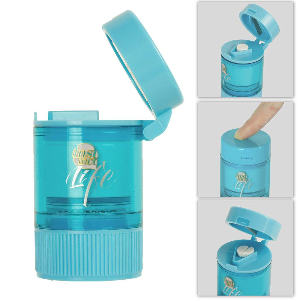 All in One Pill Crusher, Grinder, Splitter for Tablets, Small Pill Cutter Medication Grinder with Powder Storage Cup 9