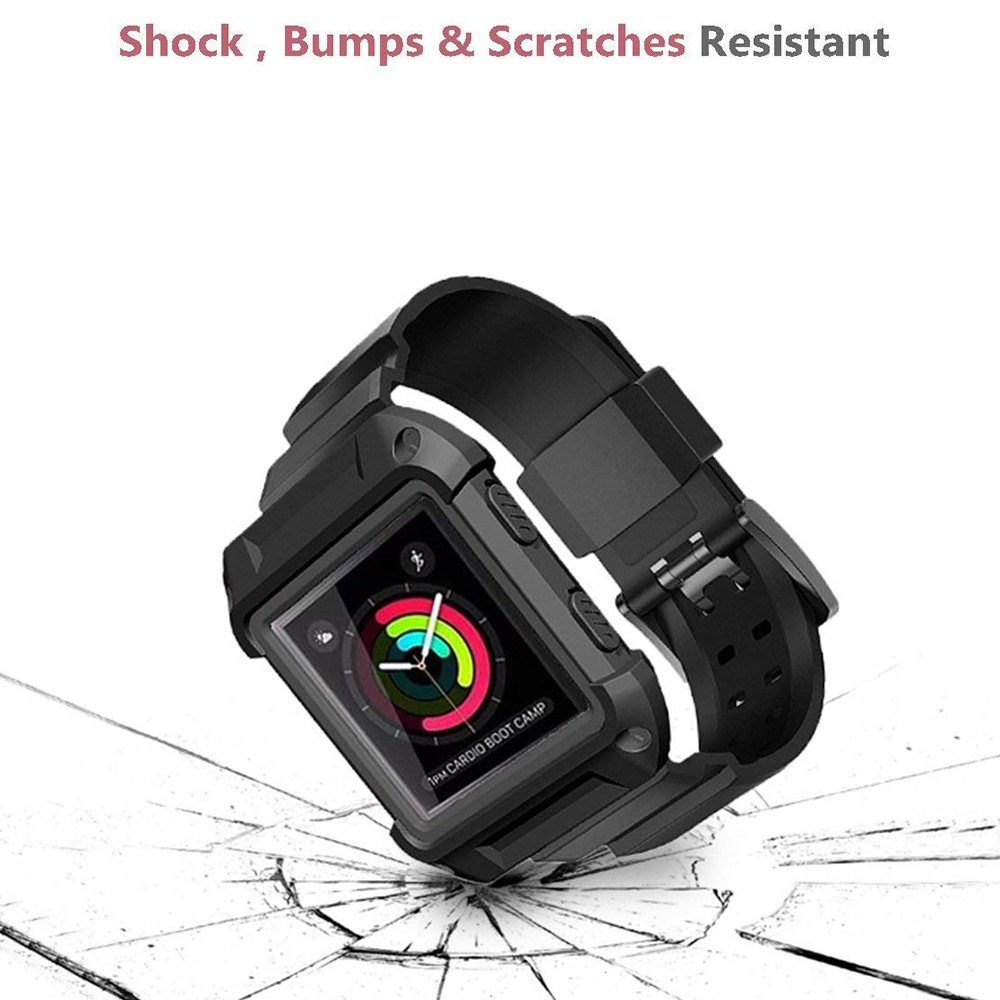 Shockproof Replacement Bands with Frame for Fitbit Blaze, Sport Silicone Protective Case with Strap Bands for Fitbit Blaze Smart Fitness Watch 3
