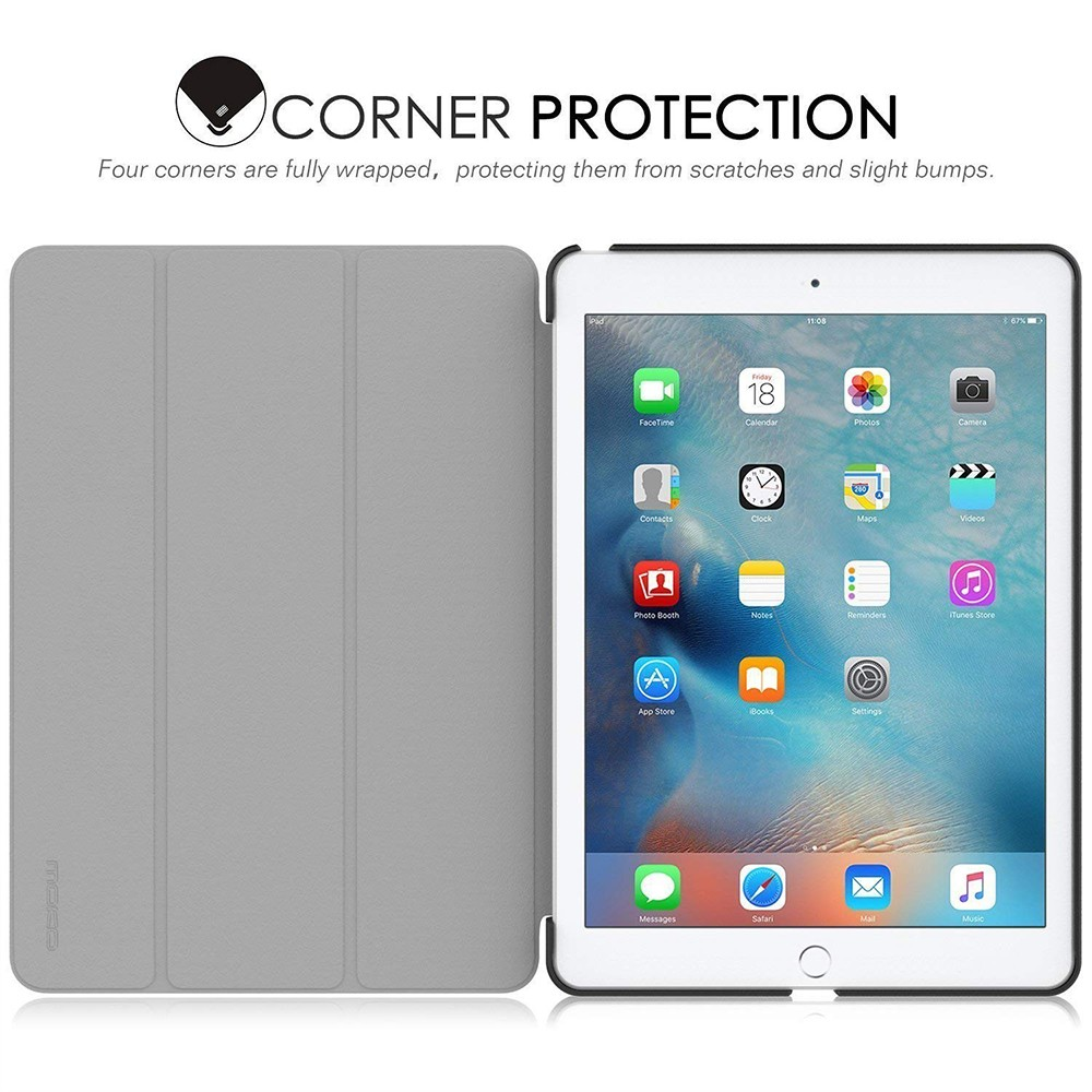 iPad Pro 9.7 Slim Folding Case, Stand Smart Case Shell with Translucent Frosted Back and Auto Wake/Sleep Function for Apple iPad Pro 9.7 Inch 2016 Release 9
