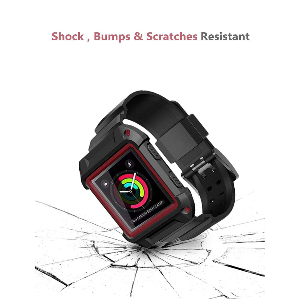 Shockproof Replacement Bands with Frame for Fitbit Blaze, Sport Silicone Protective Case with Strap Bands for Fitbit Blaze Smart Fitness Watch 13