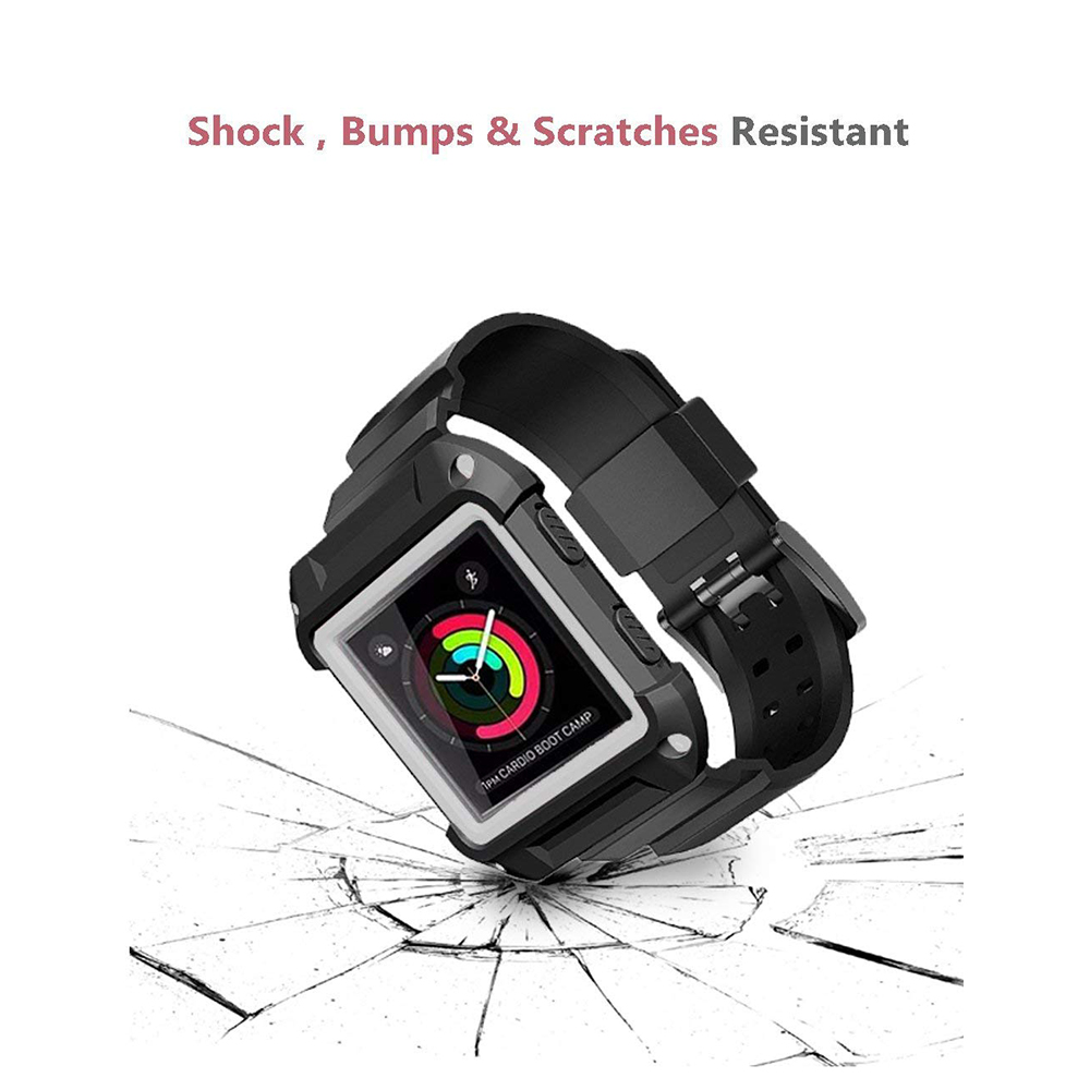 Shockproof Replacement Bands with Frame for Fitbit Blaze, Sport Silicone Protective Case with Strap Bands for Fitbit Blaze Smart Fitness Watch 19