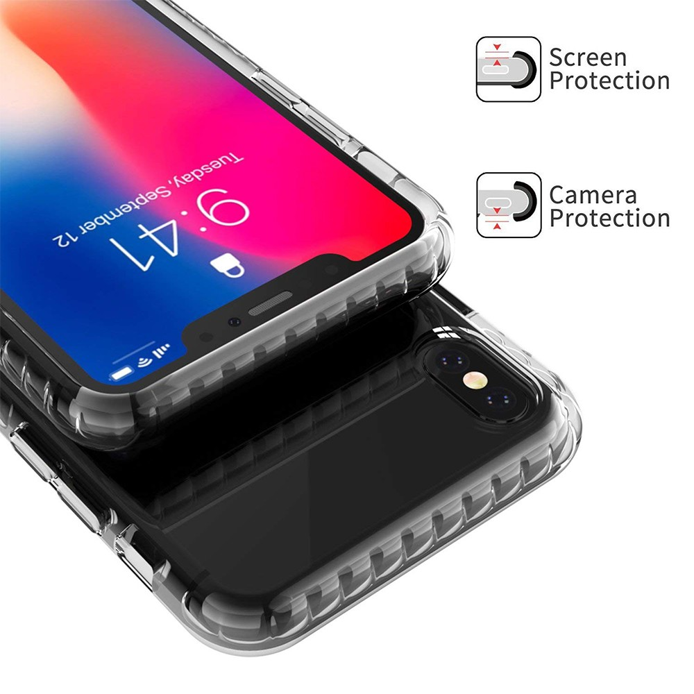 iPhone X/iPhone 10 Crystal Clear Case, Shock-Absorption Scratch Resistant Soft Protective Cover Case for iPhone X 2017 Release 5