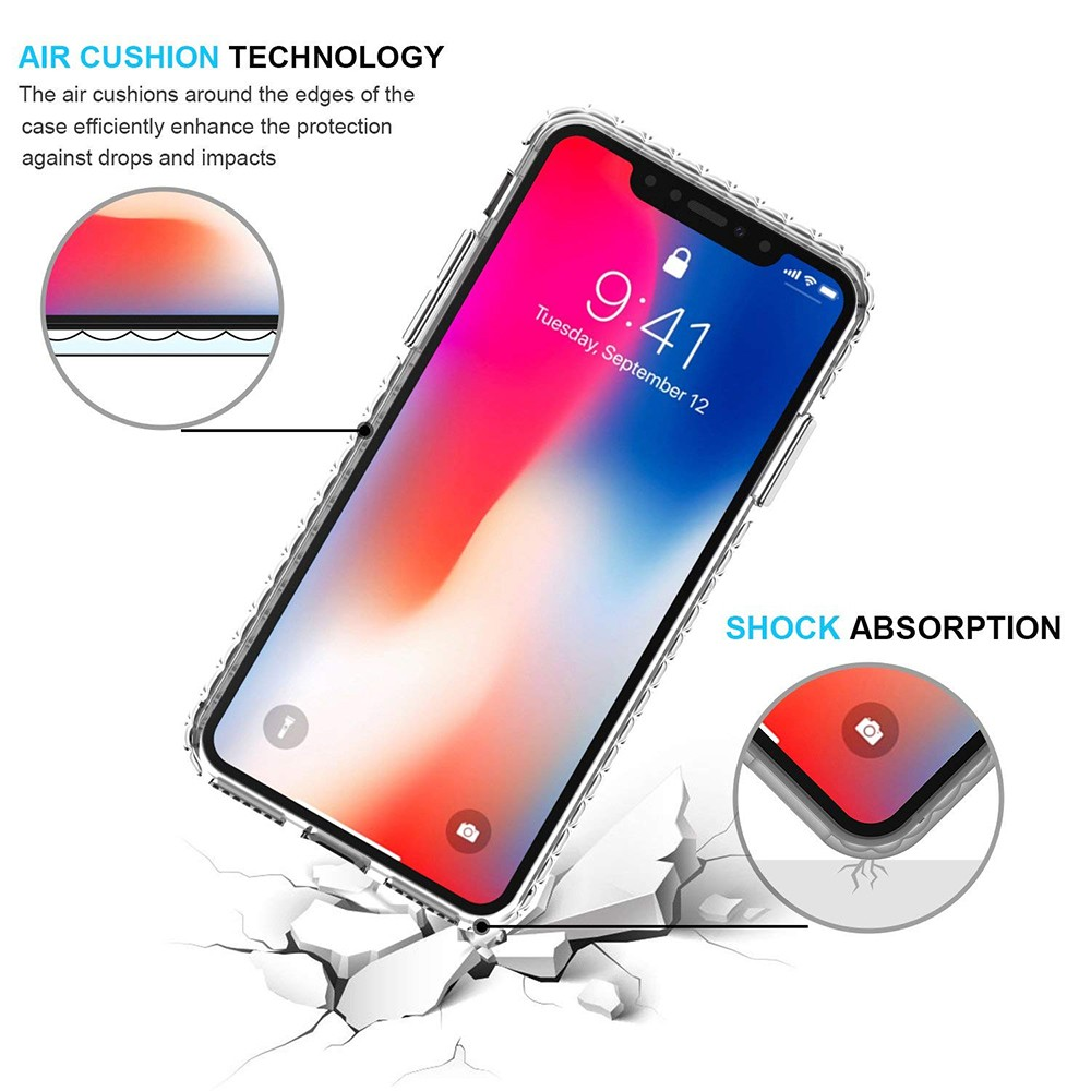 iPhone X/iPhone 10 Crystal Clear Case, Shock-Absorption Scratch Resistant Soft Protective Cover Case for iPhone X 2017 Release 6
