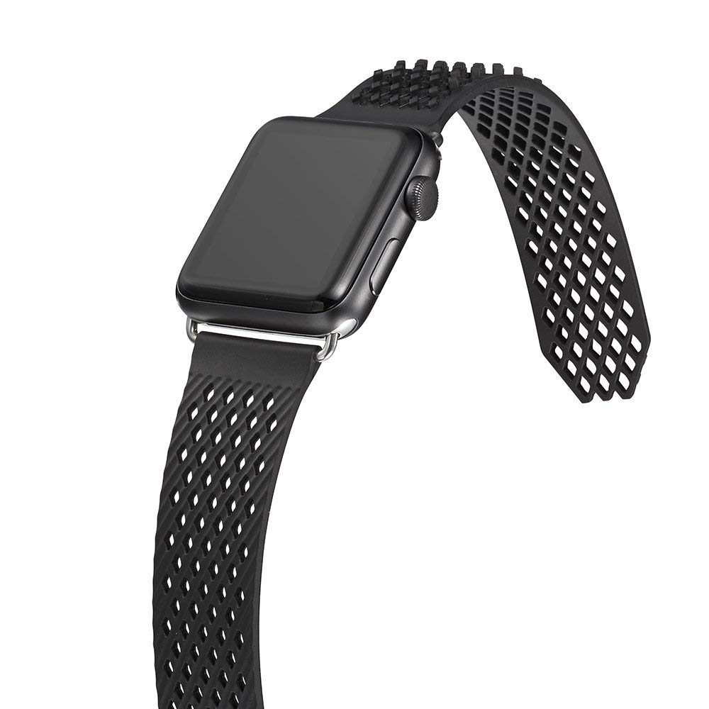 Soft Silicone Apple Watch Band, Sport Replacement Strap with Ventilation Holes for Apple Iwatch 42 mm All Models 14