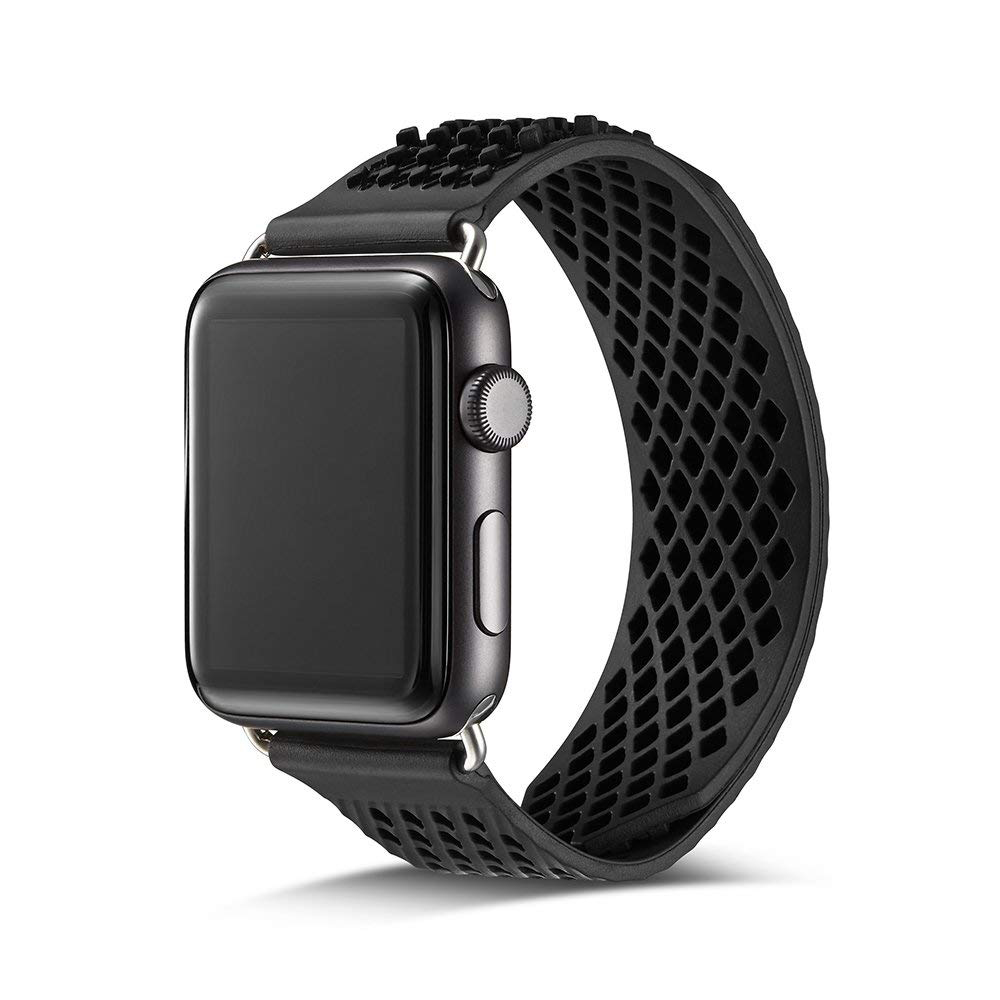 Soft Silicone Apple Watch Band, Sport Replacement Strap with Ventilation Holes for Apple Iwatch 42 mm All Models 11