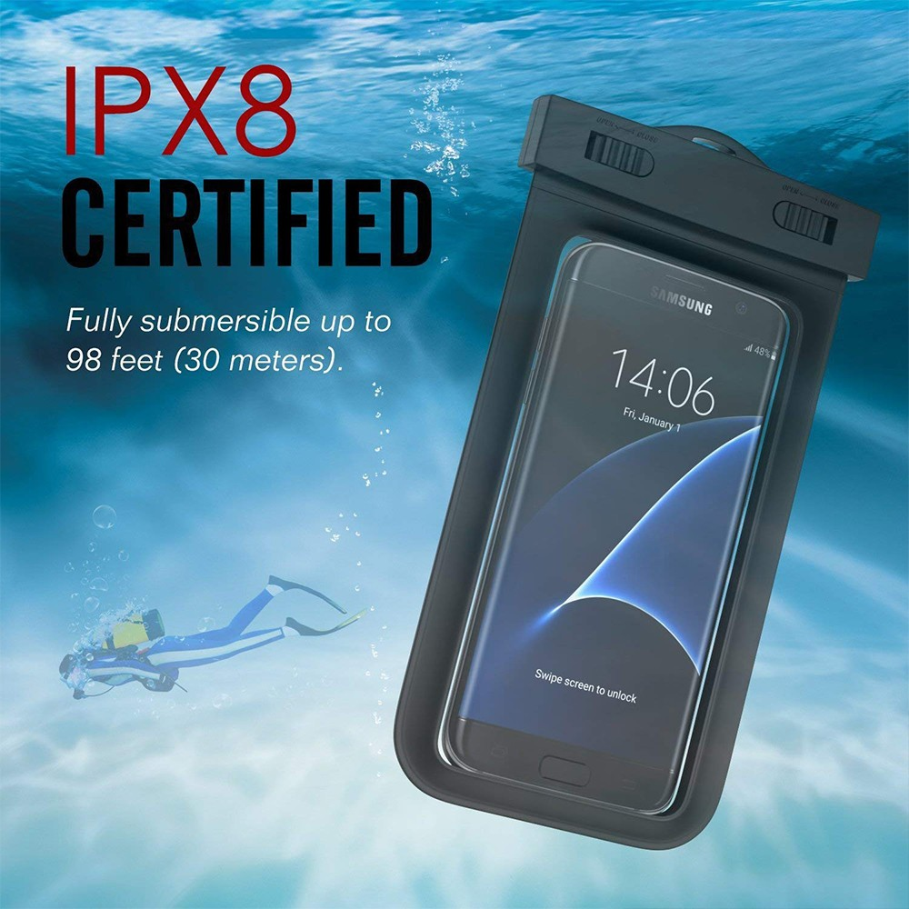 Waterproof Phone Pouch Dry Bag With Armband, Compatible for iPhone 8/8Plus, 7/7 Plus, Galaxy/Google Pixel/LG/HTC 3