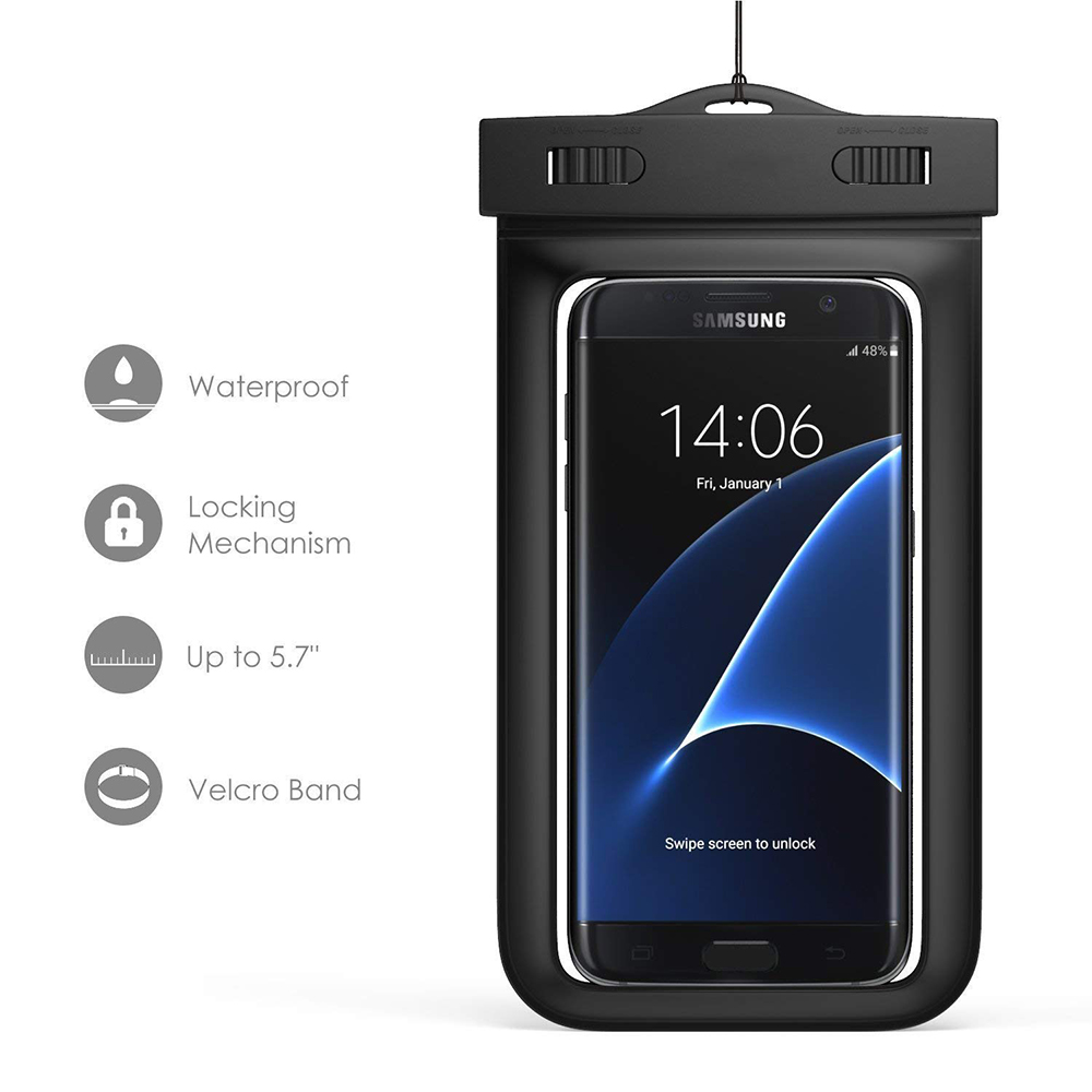 Waterproof Phone Pouch Dry Bag With Armband, Compatible for iPhone 8/8Plus, 7/7 Plus, Galaxy/Google Pixel/LG/HTC 6