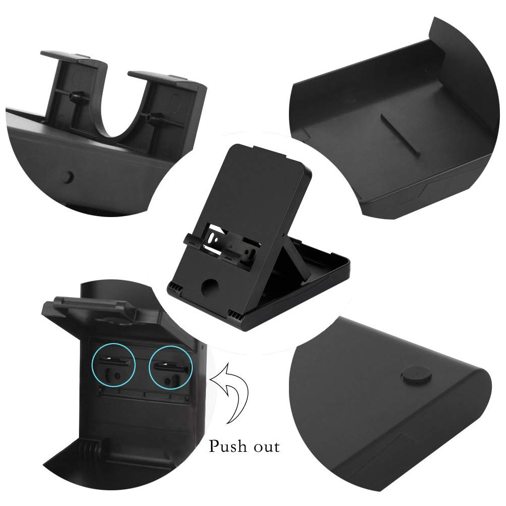 Compact Charging Playstand for Nintendo Switch, Portable Nintendo Switch Stand Holder with Adjustable Multi-angle,Black 0