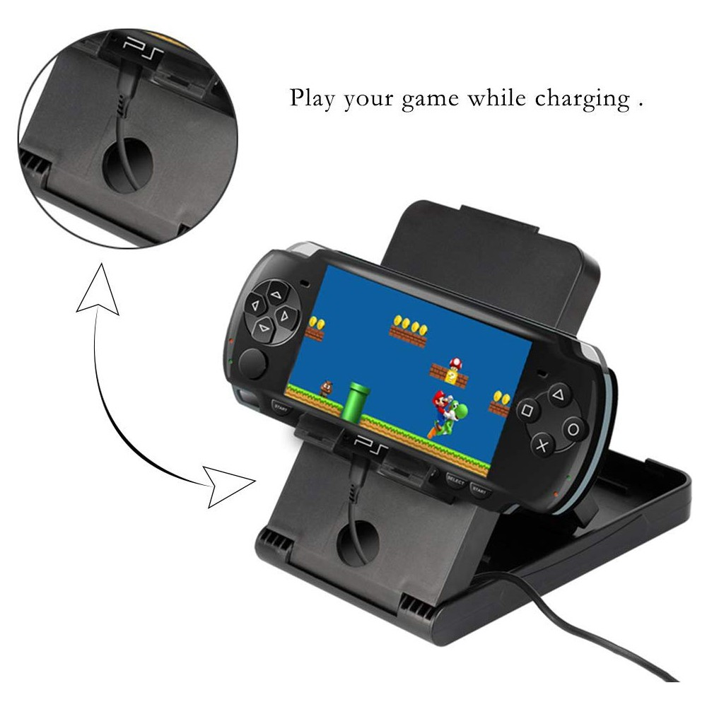 Compact Charging Playstand for Nintendo Switch, Portable Nintendo Switch Stand Holder with Adjustable Multi-angle,Black 2
