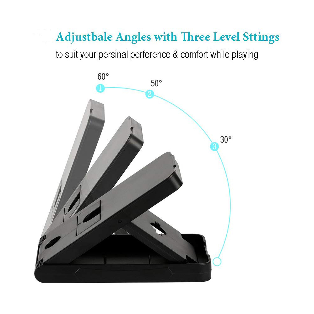 Compact Charging Playstand for Nintendo Switch, Portable Nintendo Switch Stand Holder with Adjustable Multi-angle,Black 4