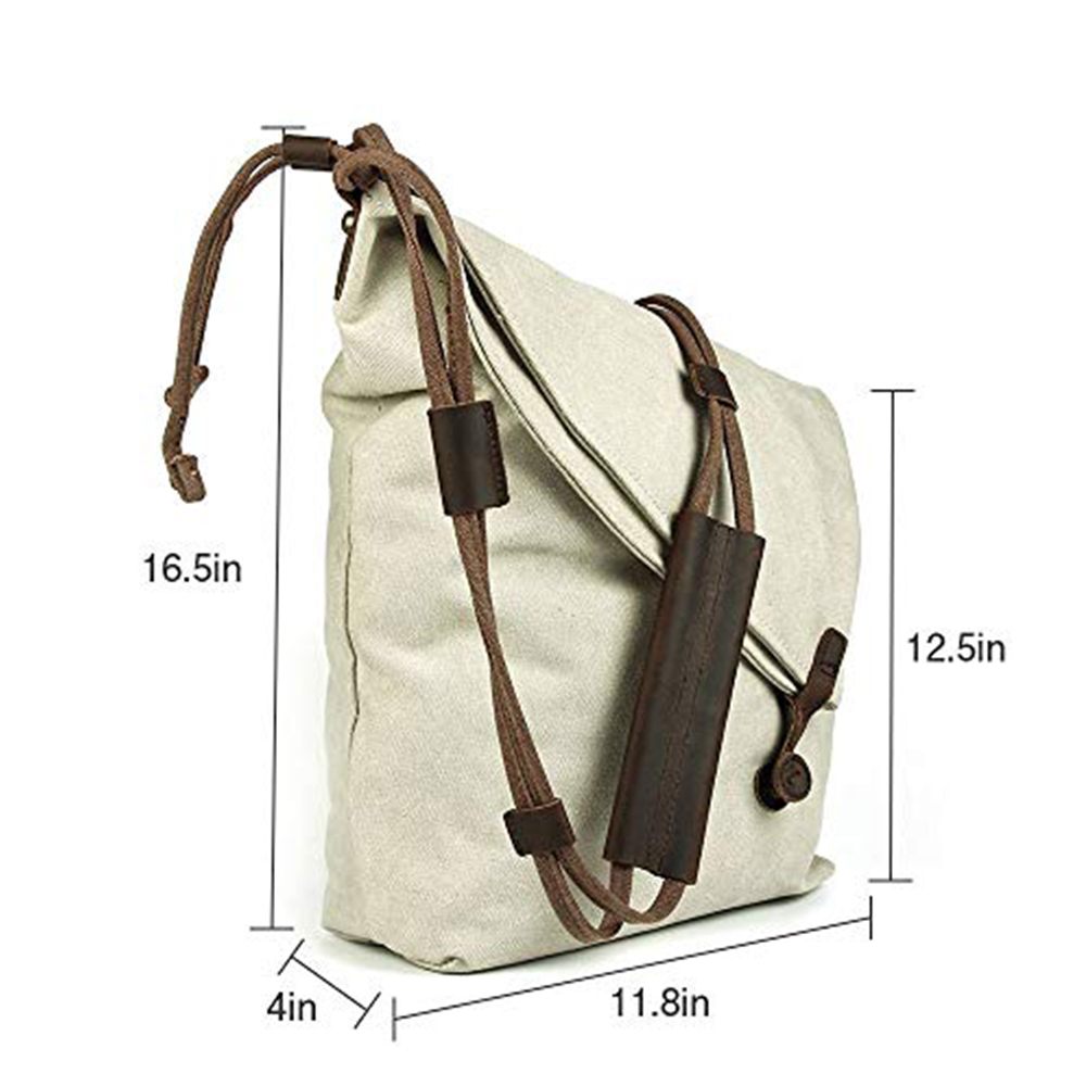 Oversized Casual Canvas Crossbody Messenger Bag, Unisex Retro Hobo Bag for Men and Women 1