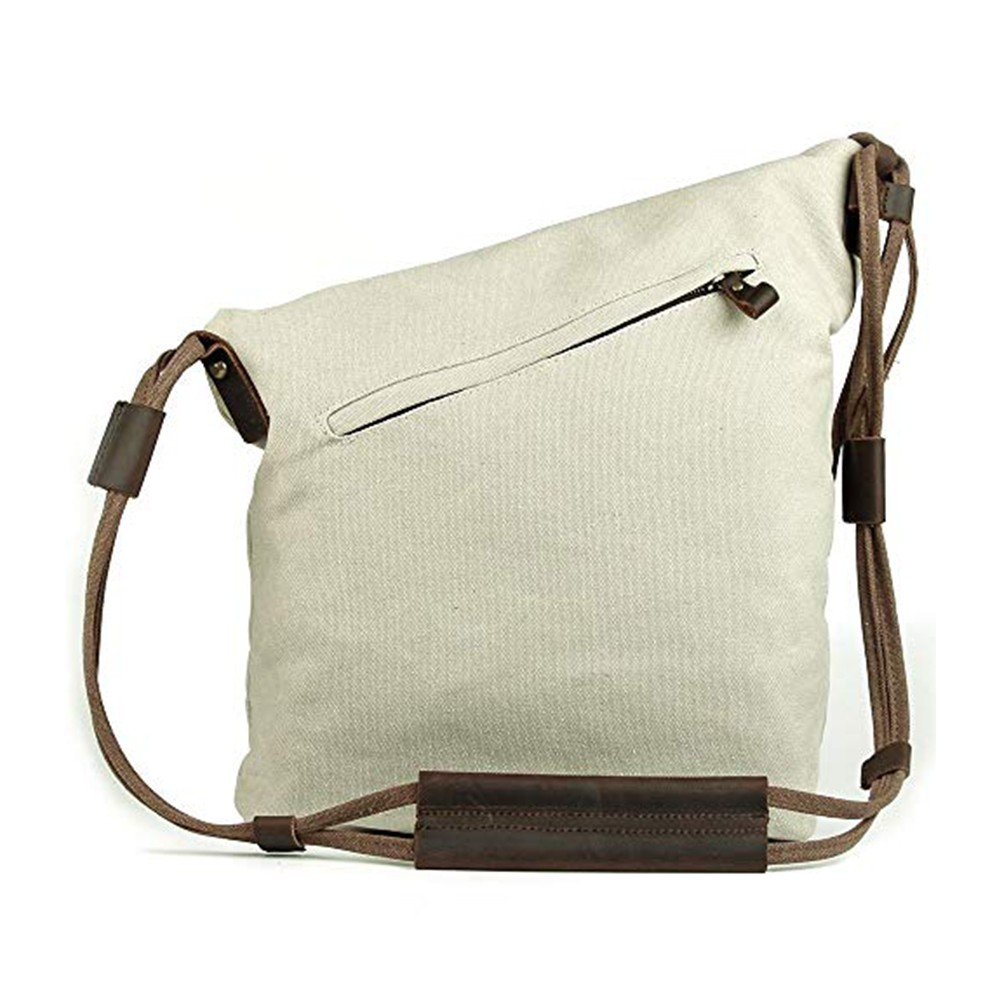 Oversized Casual Canvas Crossbody Messenger Bag, Unisex Retro Hobo Bag for Men and Women 4