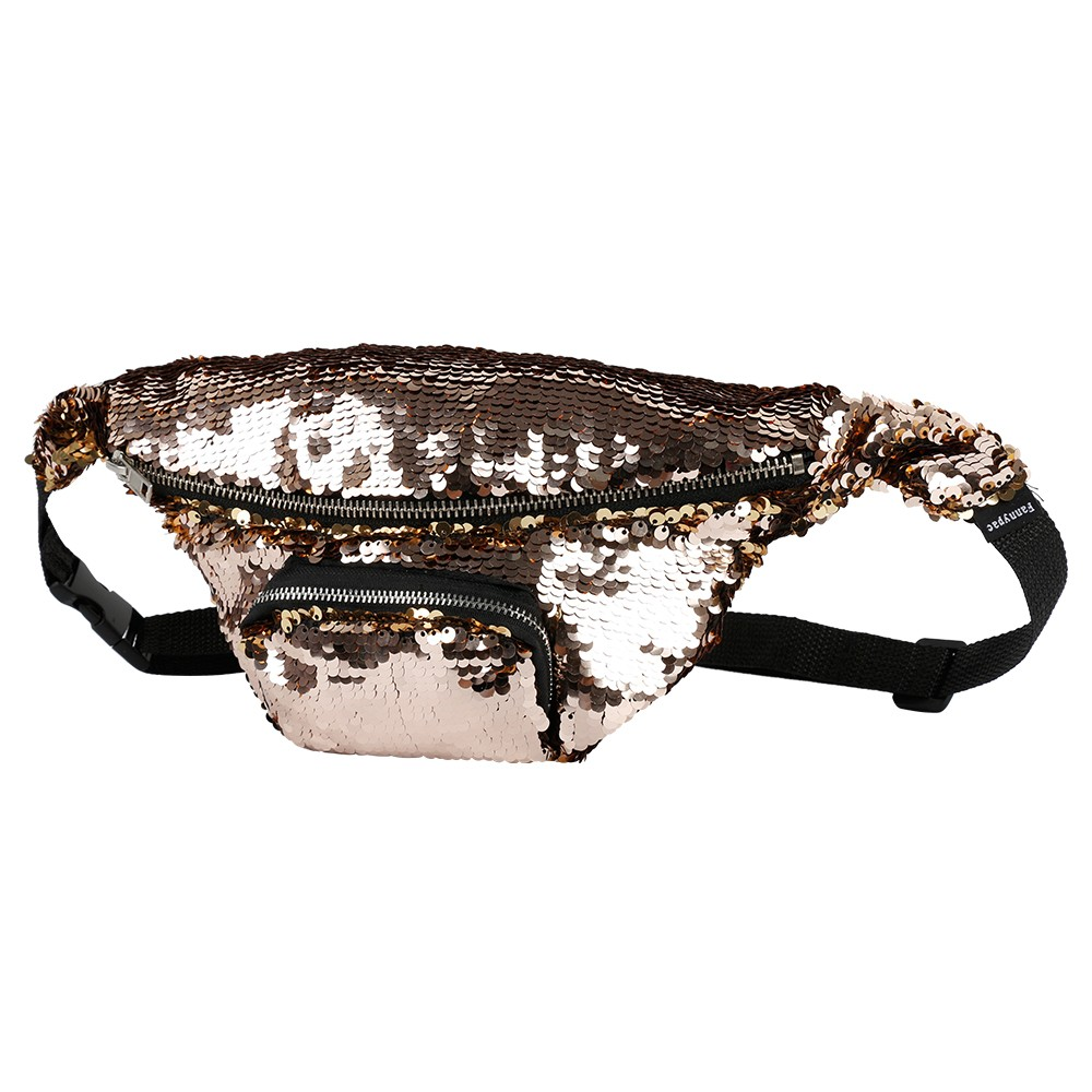 Shiny Waist Bag with Adjustable Strap for Women, Fashion Fanny Pack for Beach, Concert, Festival, Carnival 14