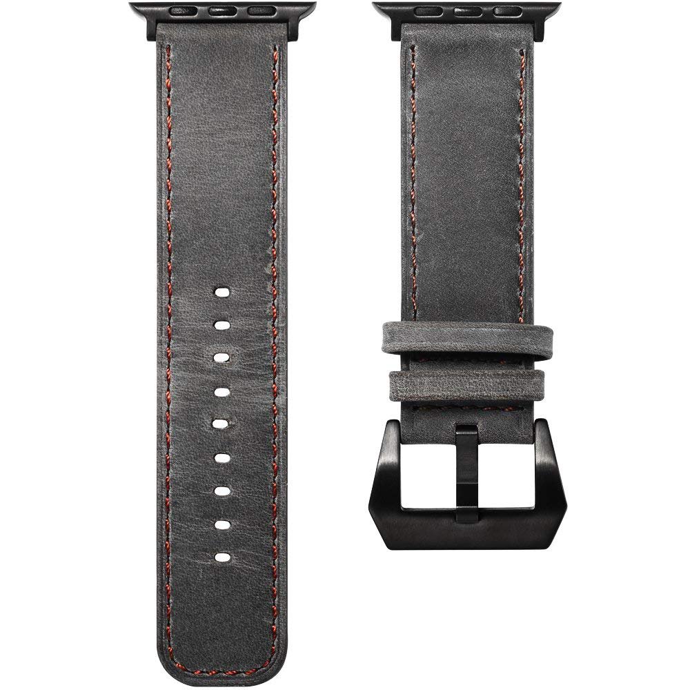 Apple Watch Replacement Band 38mm, Genuine Leather Strap with Adjustable Buckle for Apple Watch Series 3/2/1 8