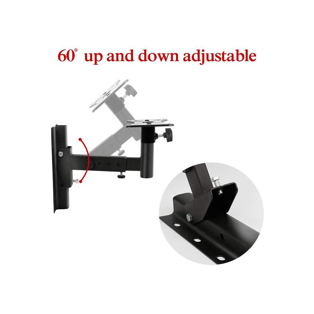 Universal Speaker Wall Mounts, Pair of Adjustable Side Clamping Bookshelf Speaker Mounting Brackets, 66 Lbs Capacity, Black 3