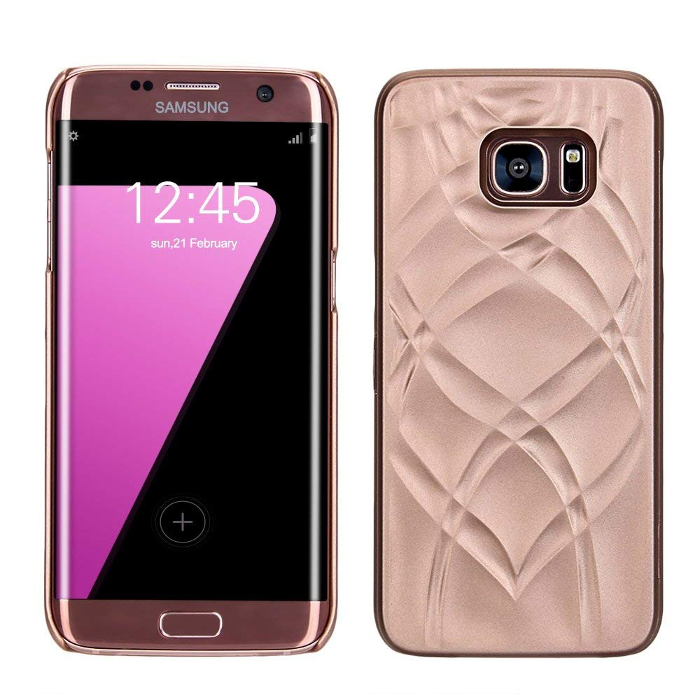 Galaxy S7 Edge Wallet Case With Mirror, Flip Case Cover with Card Slots & Stand for Samsung Galaxy S7 edge 9
