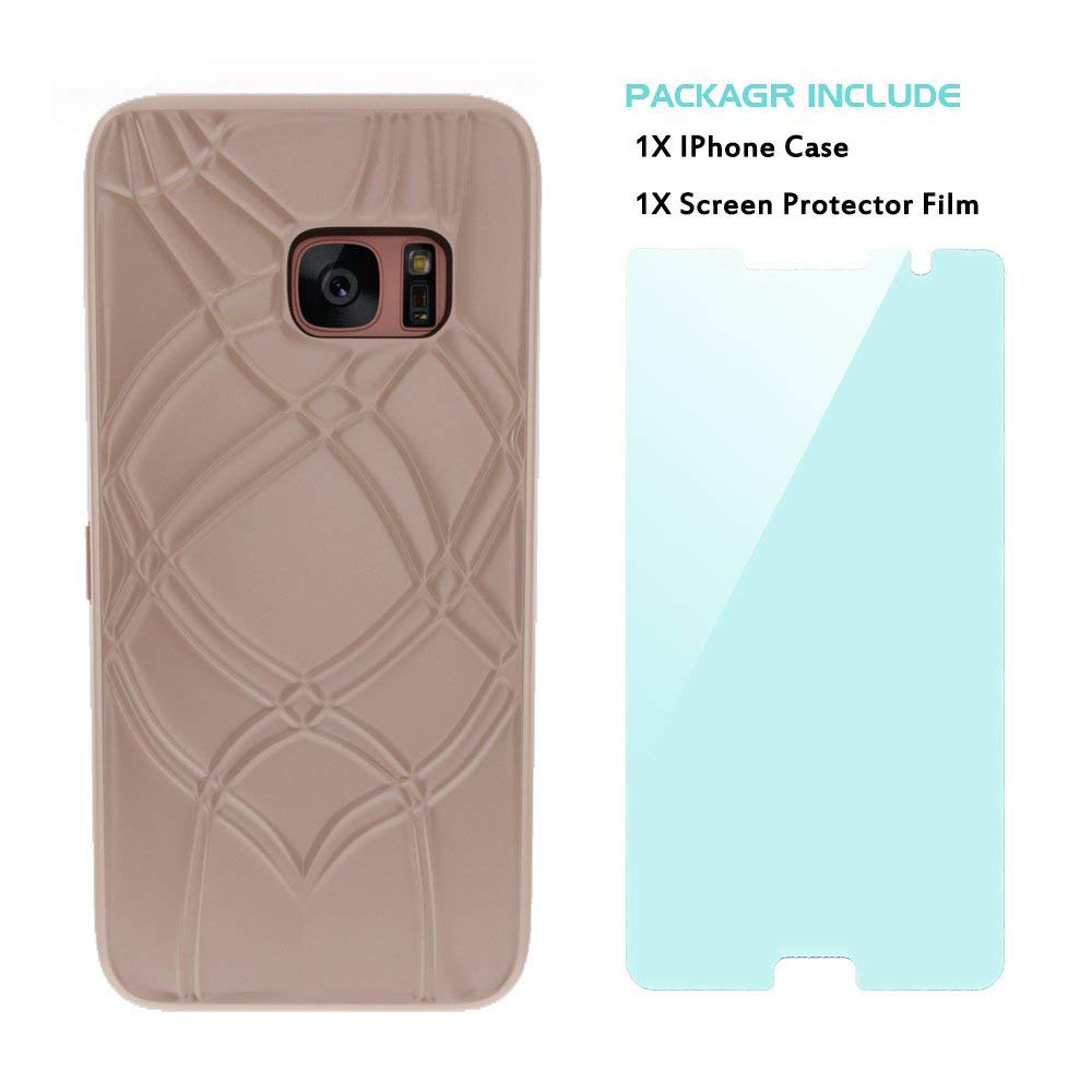 Galaxy S7 Edge Wallet Case With Mirror, Flip Case Cover with Card Slots & Stand for Samsung Galaxy S7 edge 13