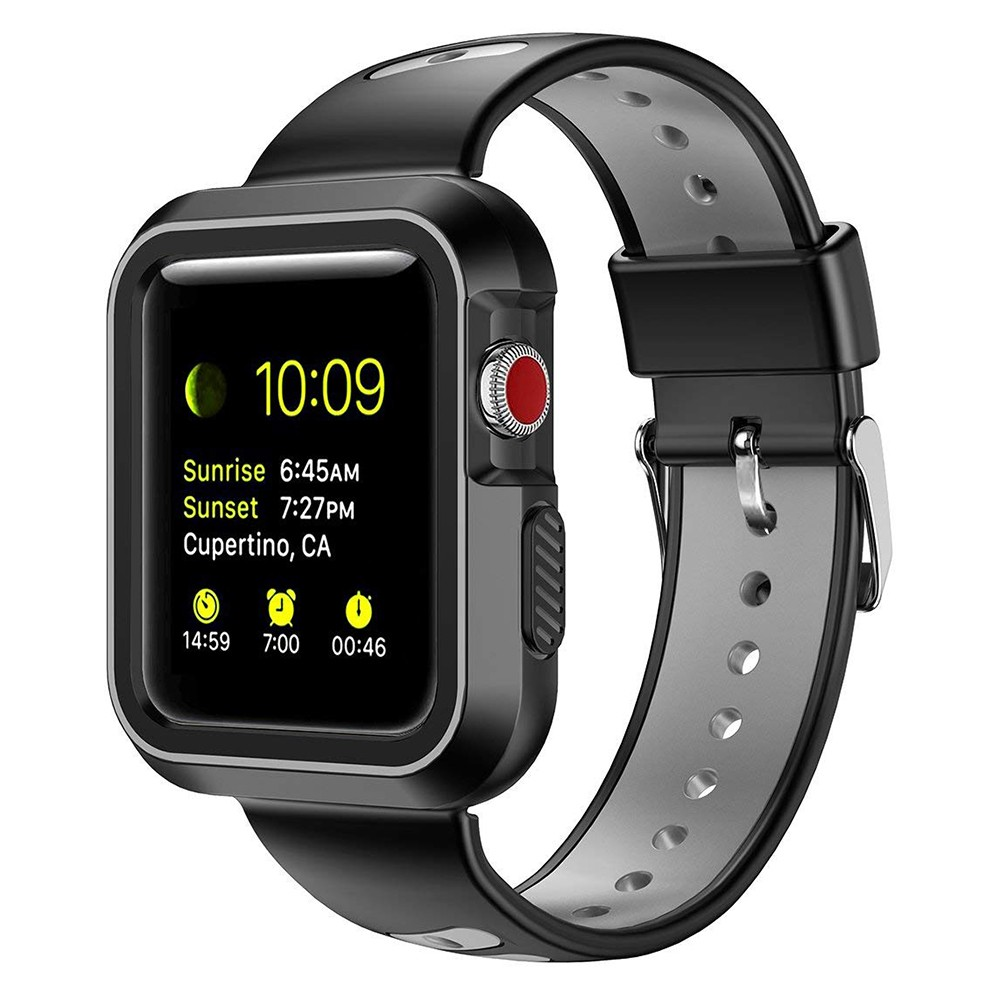 Waterproof Apple Watch Band and Case 38mm, Sport Replacement Wristband and Bumper Protective Case for Apple Watch Series 3/2/1 29