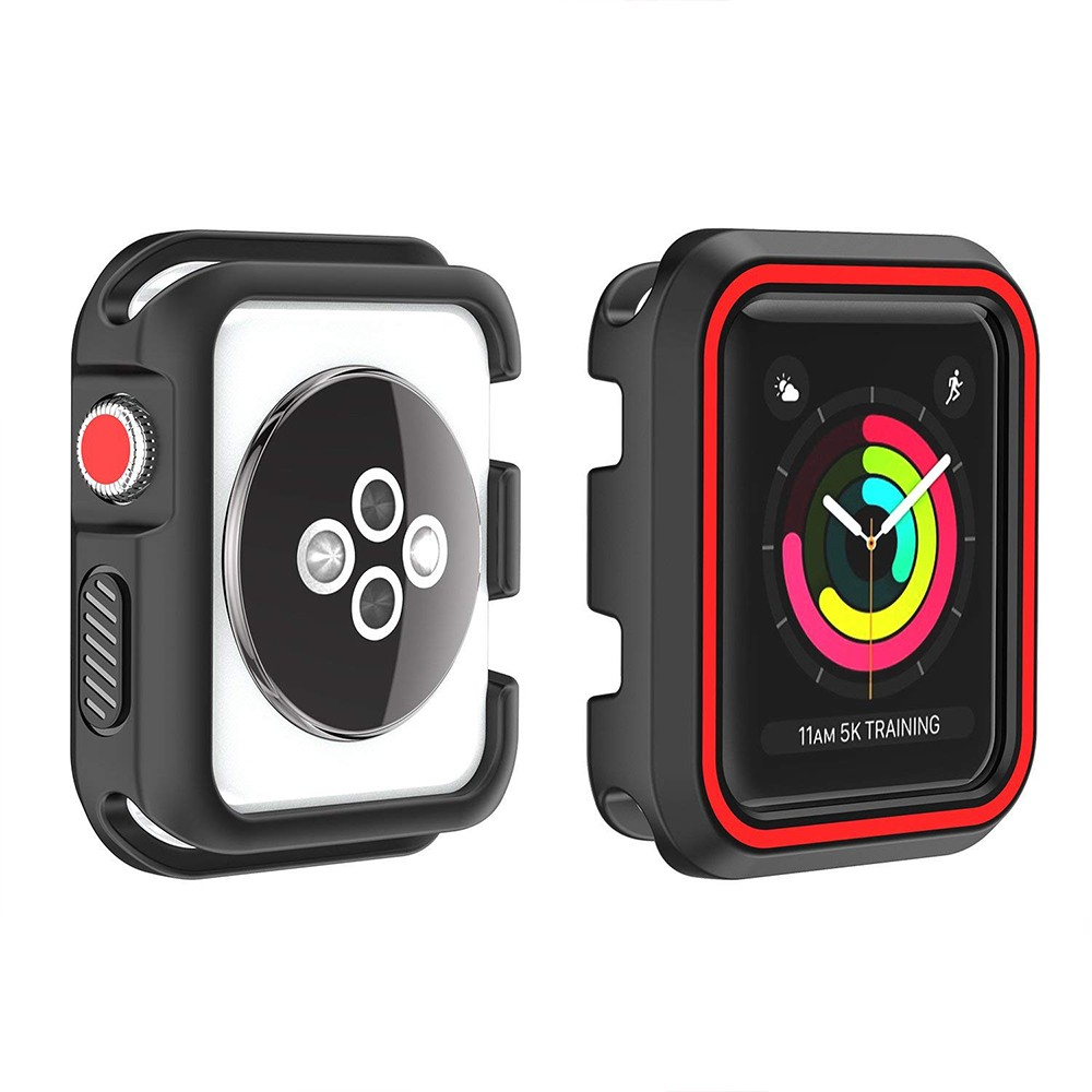Waterproof Apple Watch Band and Case 38mm, Sport Replacement Wristband and Bumper Protective Case for Apple Watch Series 3/2/1 35