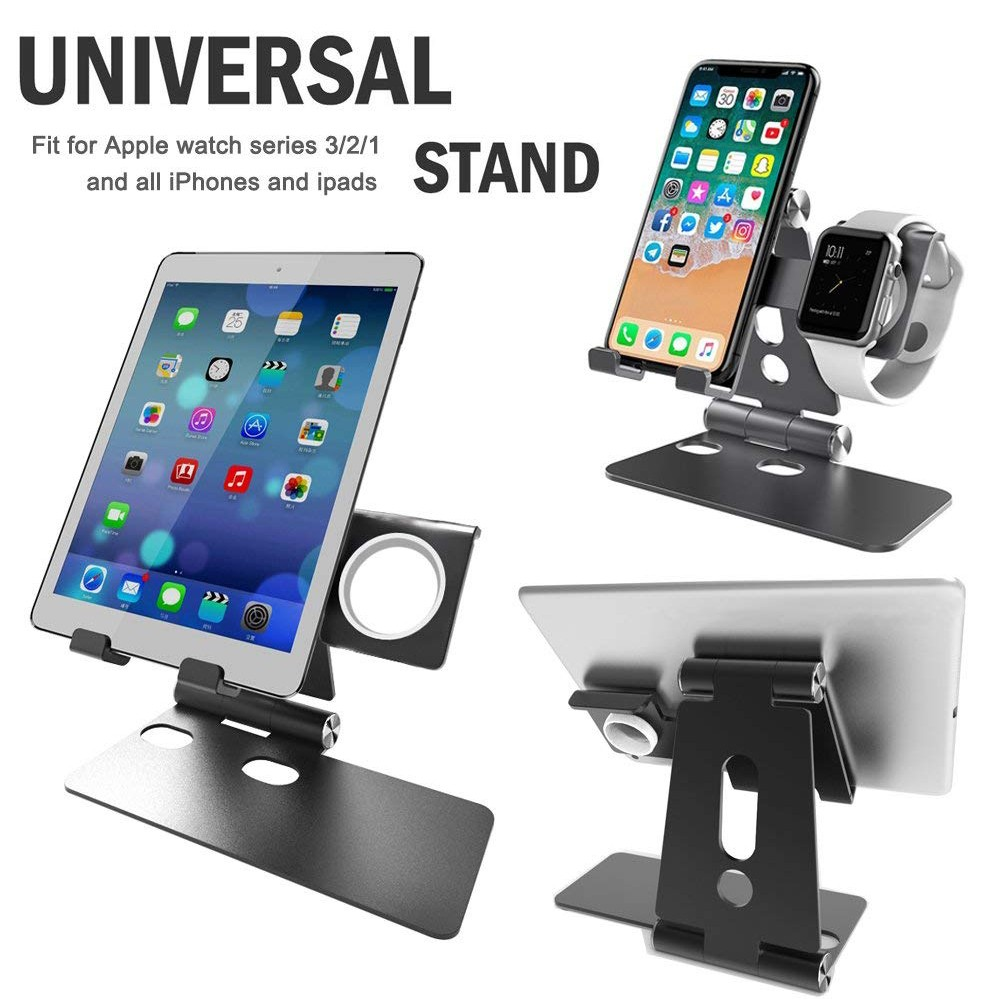 Apple Watch Charging Stand and Universal Desktop Cell Phone Stand, Charging Station Dock for Apple watch 1/2/3, iWatch/iPhone X/8 Plus/8/7 Plus 2