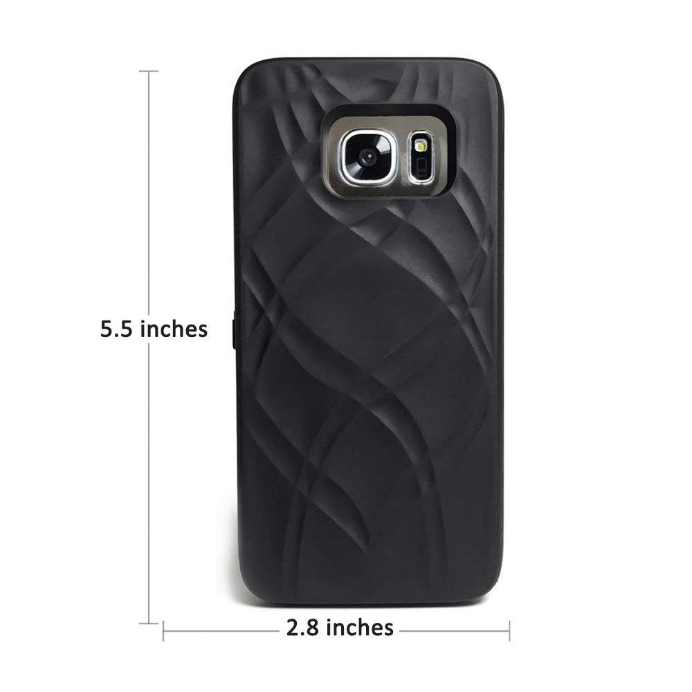 Galaxy S7 Wallet Case With Mirror, Protective Case Cover with Card Key Slot Holder & Stand Feature for Samsung Galaxy S7 5.1 inch 23