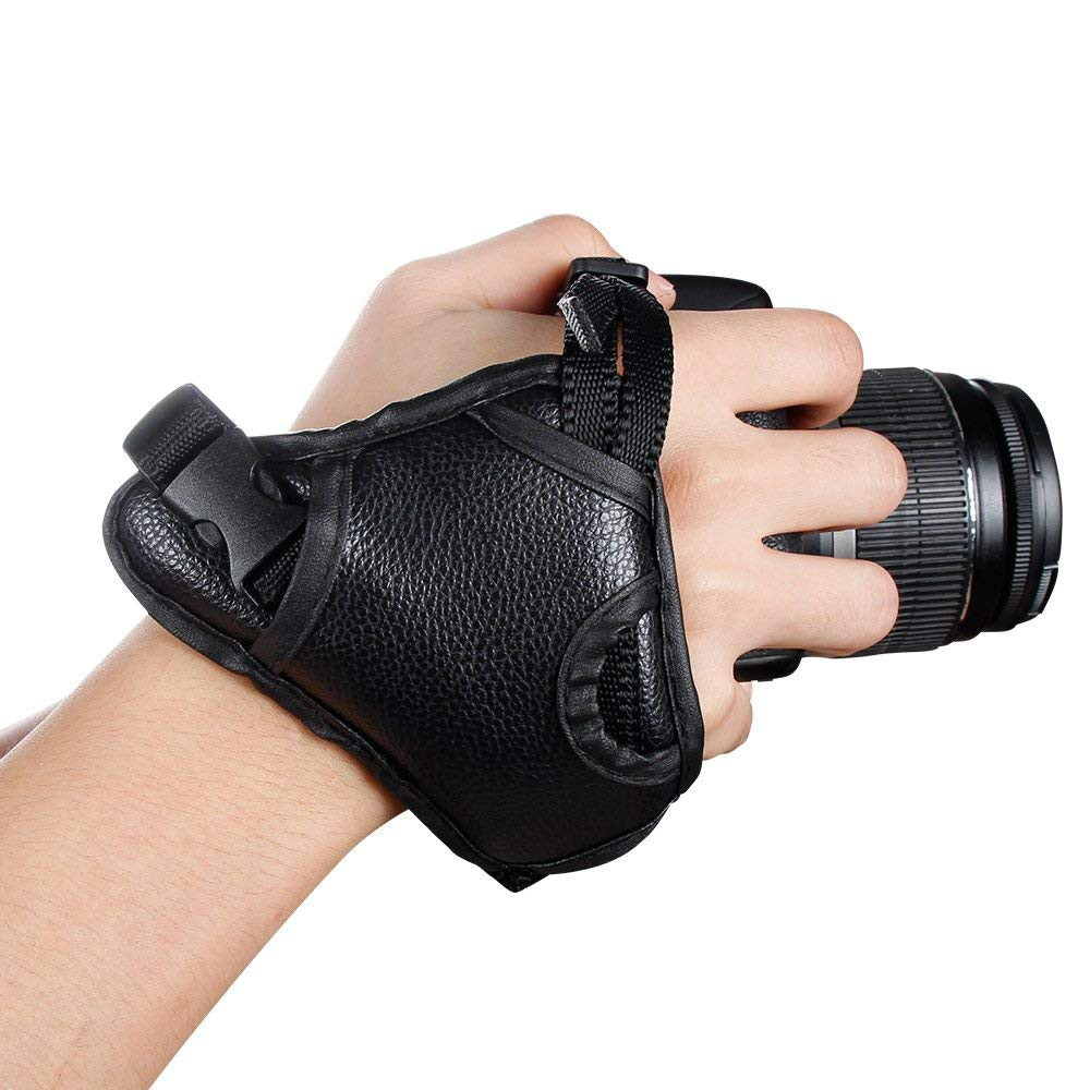 Hand Grip Strap for DSLR Cameras, Camera Padded Wrist Grip Strap for Prevents Droppage and Stabilizes Video 0