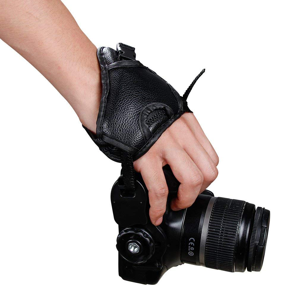 Hand Grip Strap for DSLR Cameras, Camera Padded Wrist Grip Strap for Prevents Droppage and Stabilizes Video 1