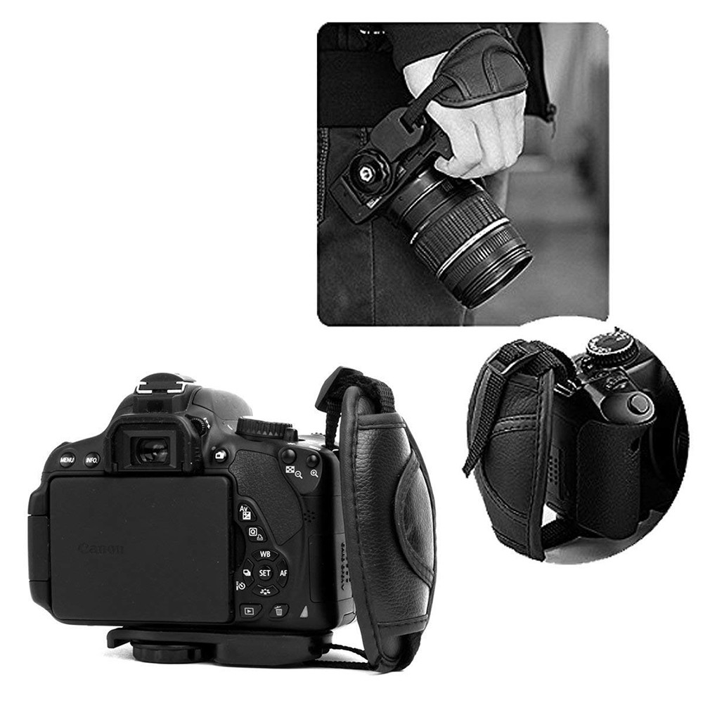 Hand Grip Strap for DSLR Cameras, Camera Padded Wrist Grip Strap for Prevents Droppage and Stabilizes Video 5