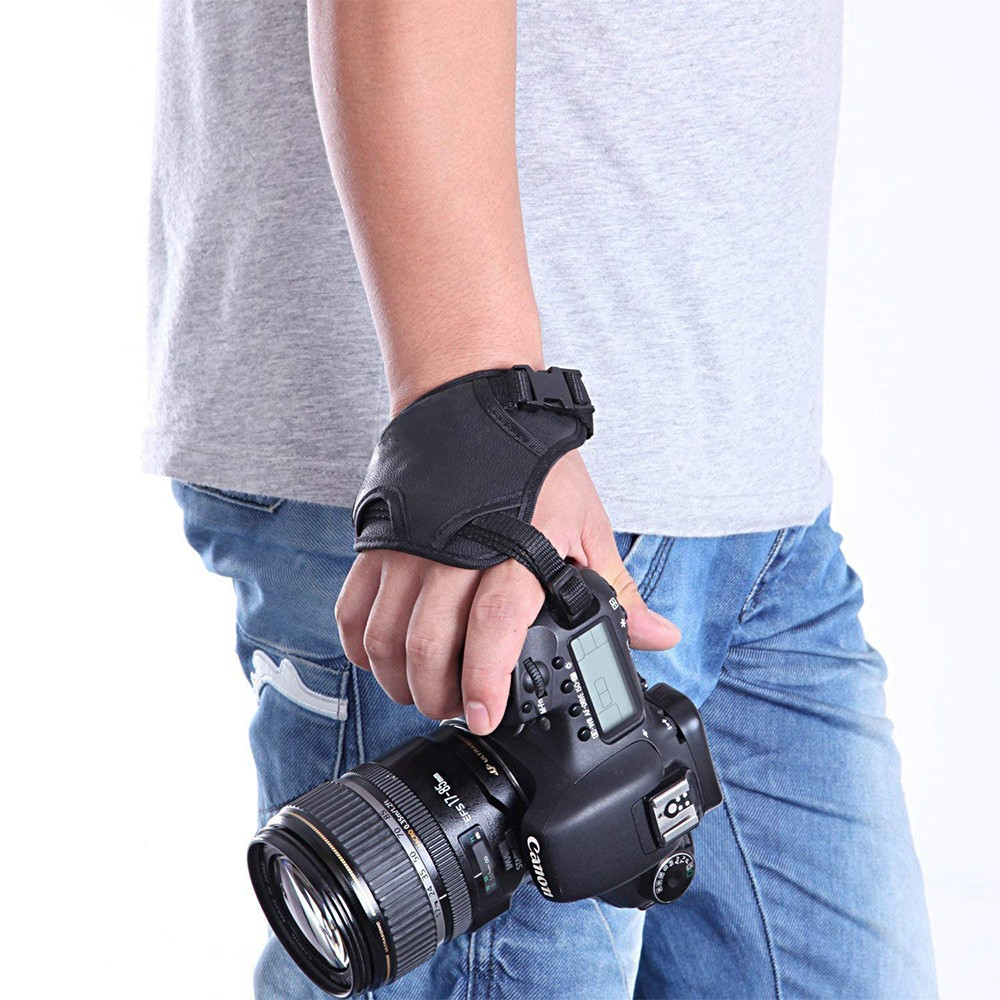 Hand Grip Strap for DSLR Cameras, Camera Padded Wrist Grip Strap for Prevents Droppage and Stabilizes Video 7