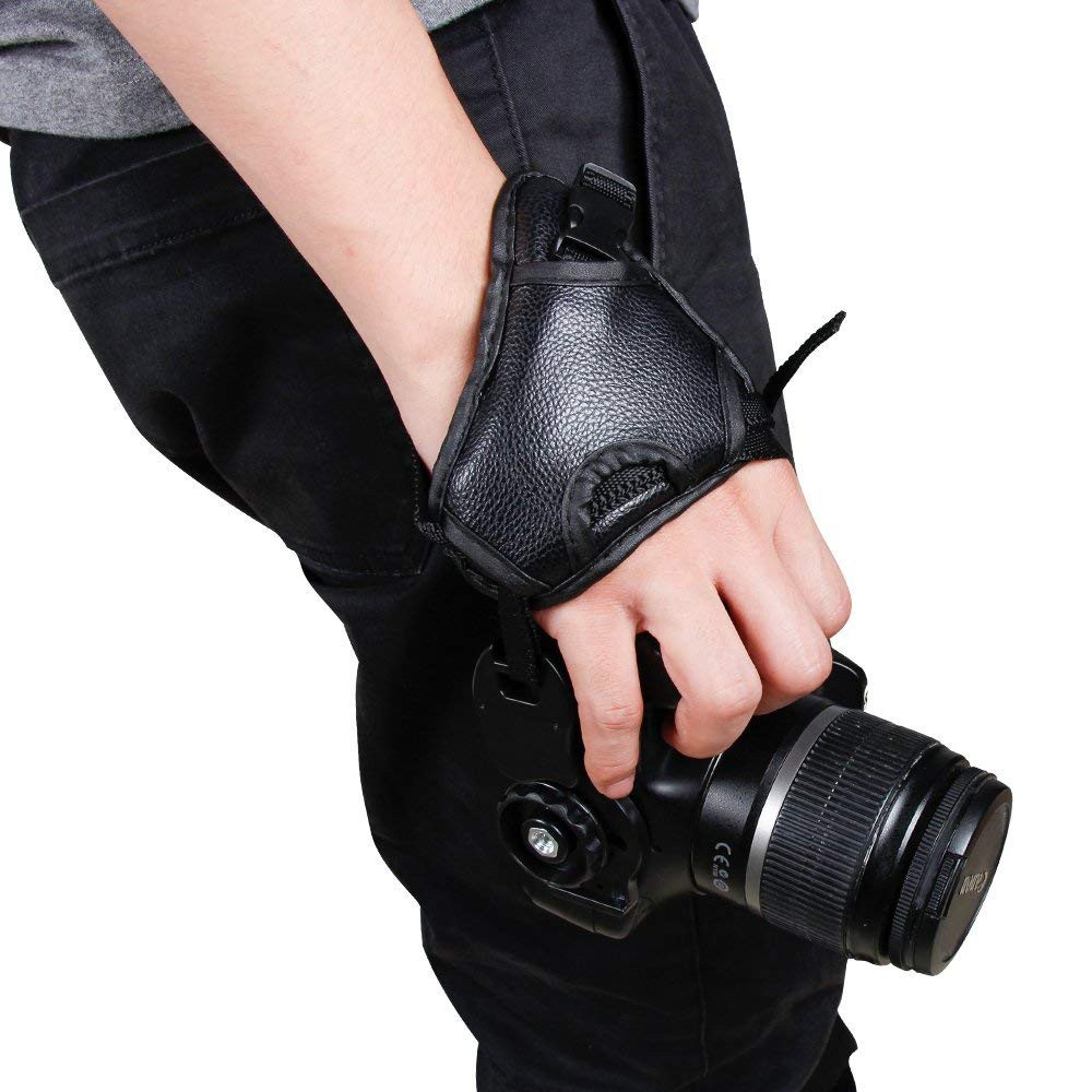 Hand Grip Strap for DSLR Cameras, Camera Padded Wrist Grip Strap for Prevents Droppage and Stabilizes Video 8