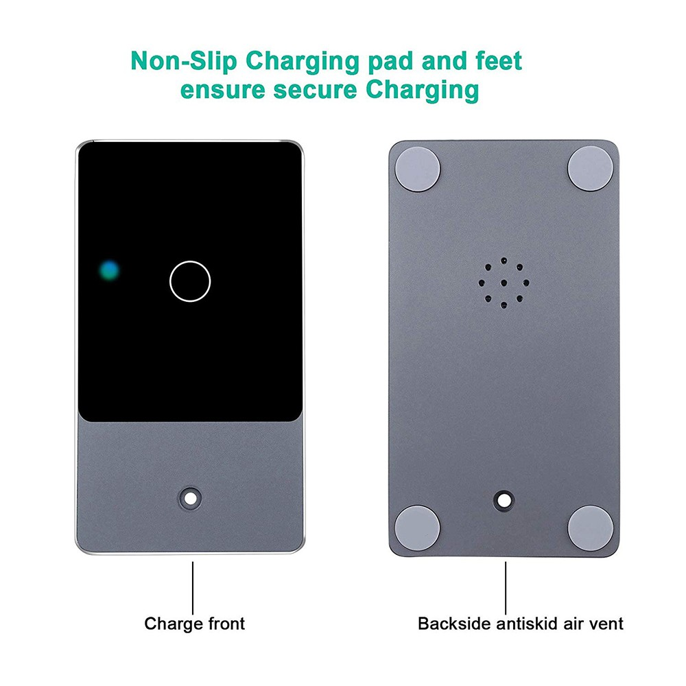 Fast Wireless Phone Charger Stand, 2-in-1 Wireless Charging Pad iPhone Station Headphone Holder 0