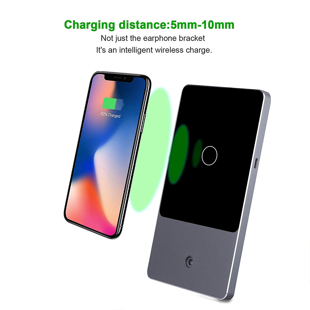 Fast Wireless Phone Charger Stand, 2-in-1 Wireless Charging Pad iPhone Station Headphone Holder 1