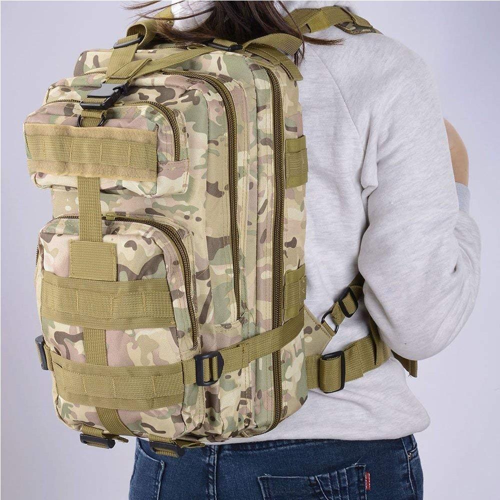Waterproof Tactical Hiking Backpack, Outdoor 30L Military Rucksacks 10